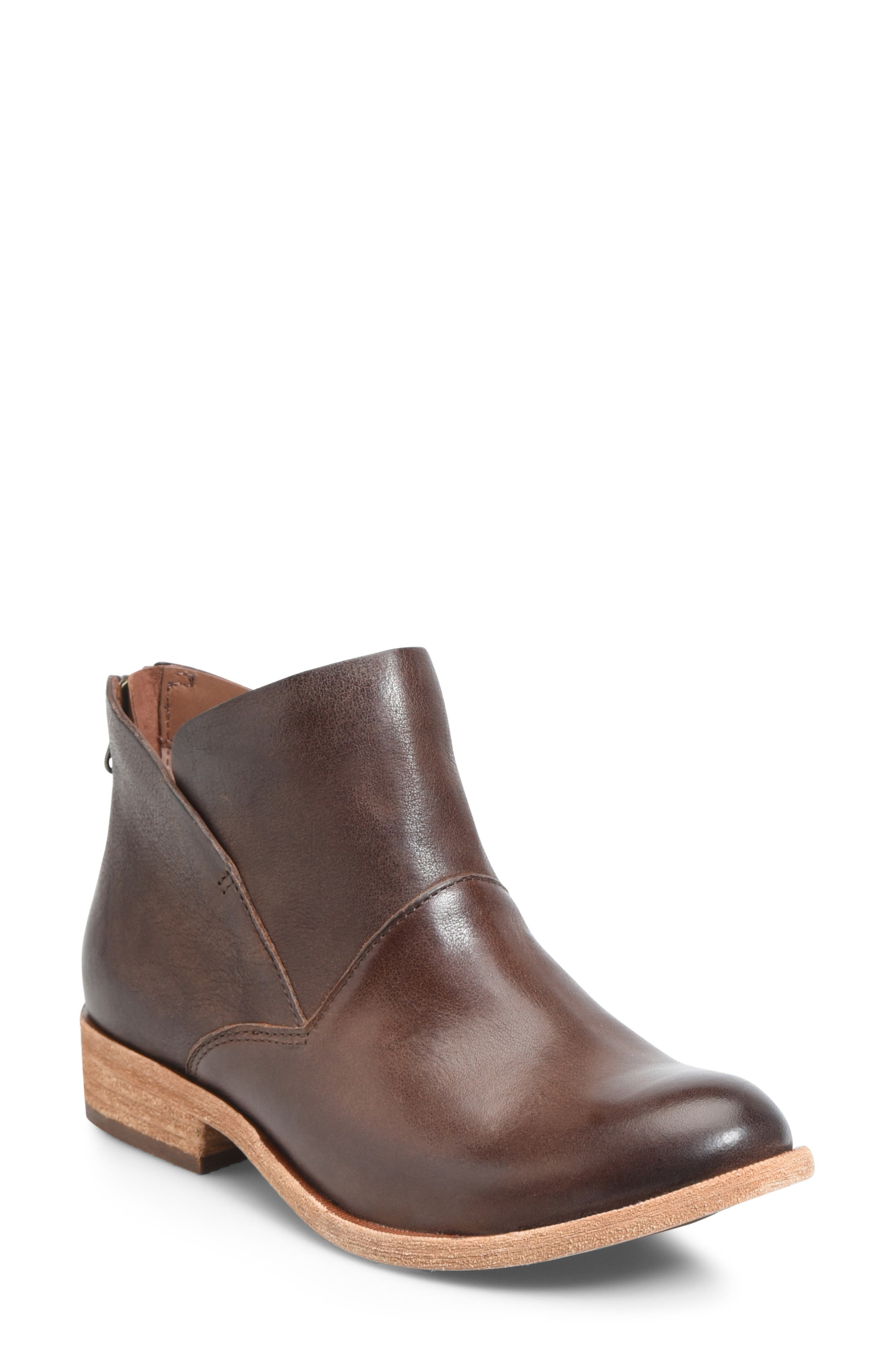 Ryder Ankle Boot,                             Main thumbnail 1, color,                             DARK BROWN LEATHER