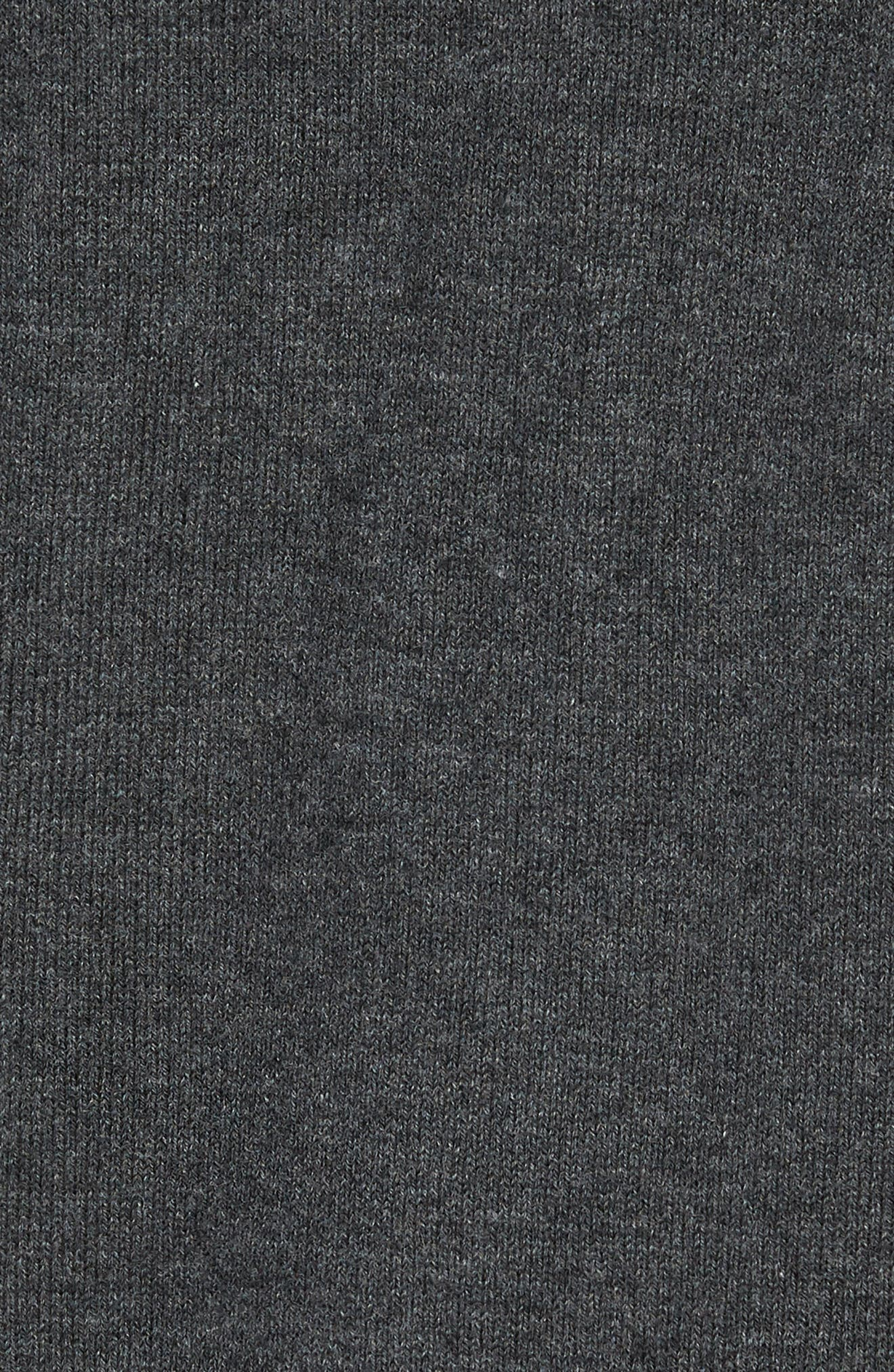 Houston Texans - Lakemont Regular Fit Quarter Zip Sweater,                             Alternate thumbnail 5, color,                             CHARCOAL HEATHER