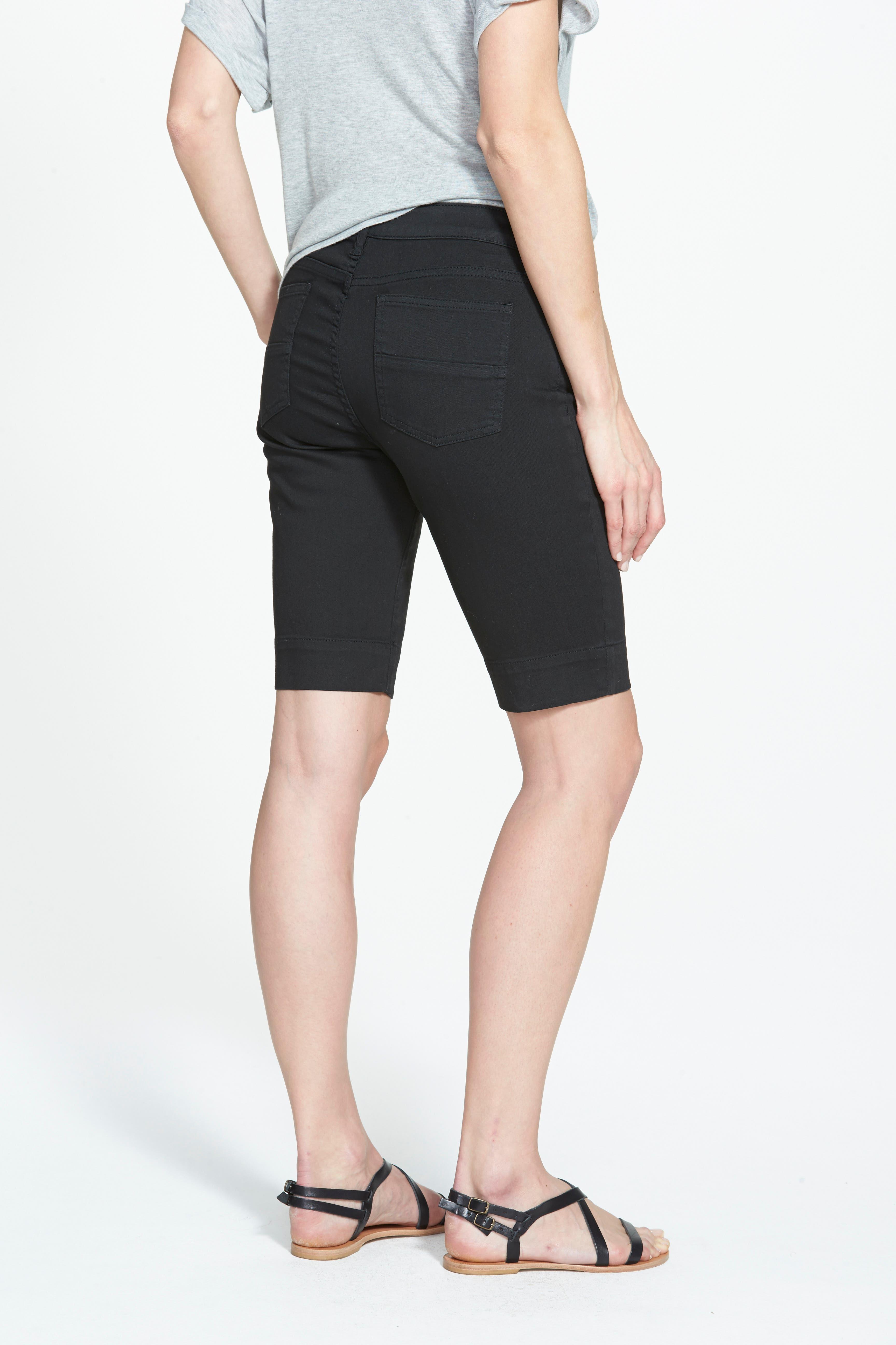 'Natalie' Twill Bermuda Shorts,                             Alternate thumbnail 3, color,                             001