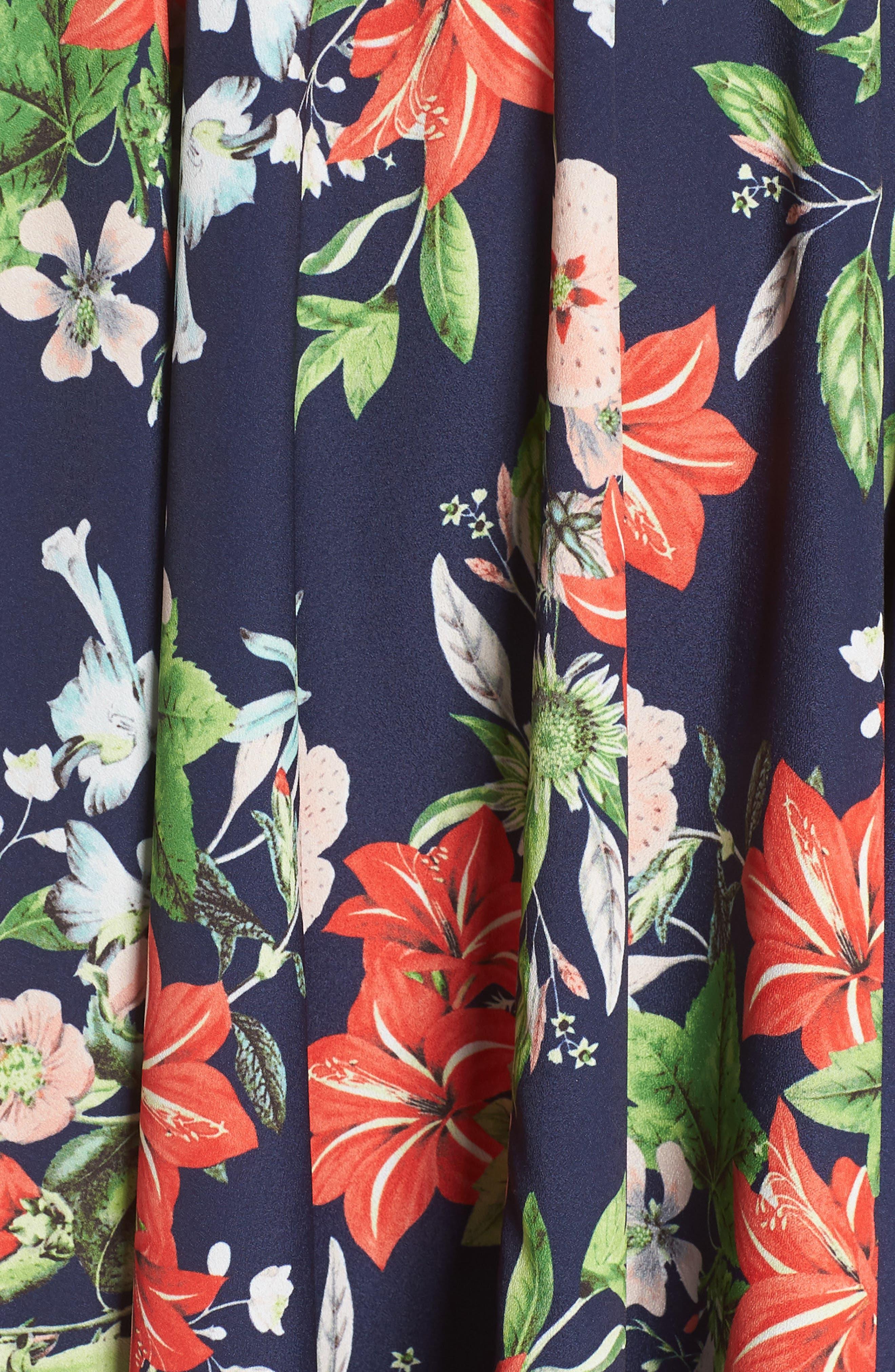 ELIZA J,                             Tie Strap Handkerchief Hem Dress,                             Alternate thumbnail 6, color,                             410