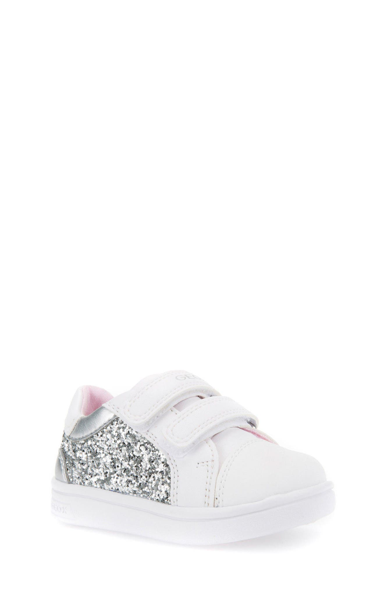 GEOX,                             DJ Rock Glitter Low Top Sneaker,                             Main thumbnail 1, color,                             040