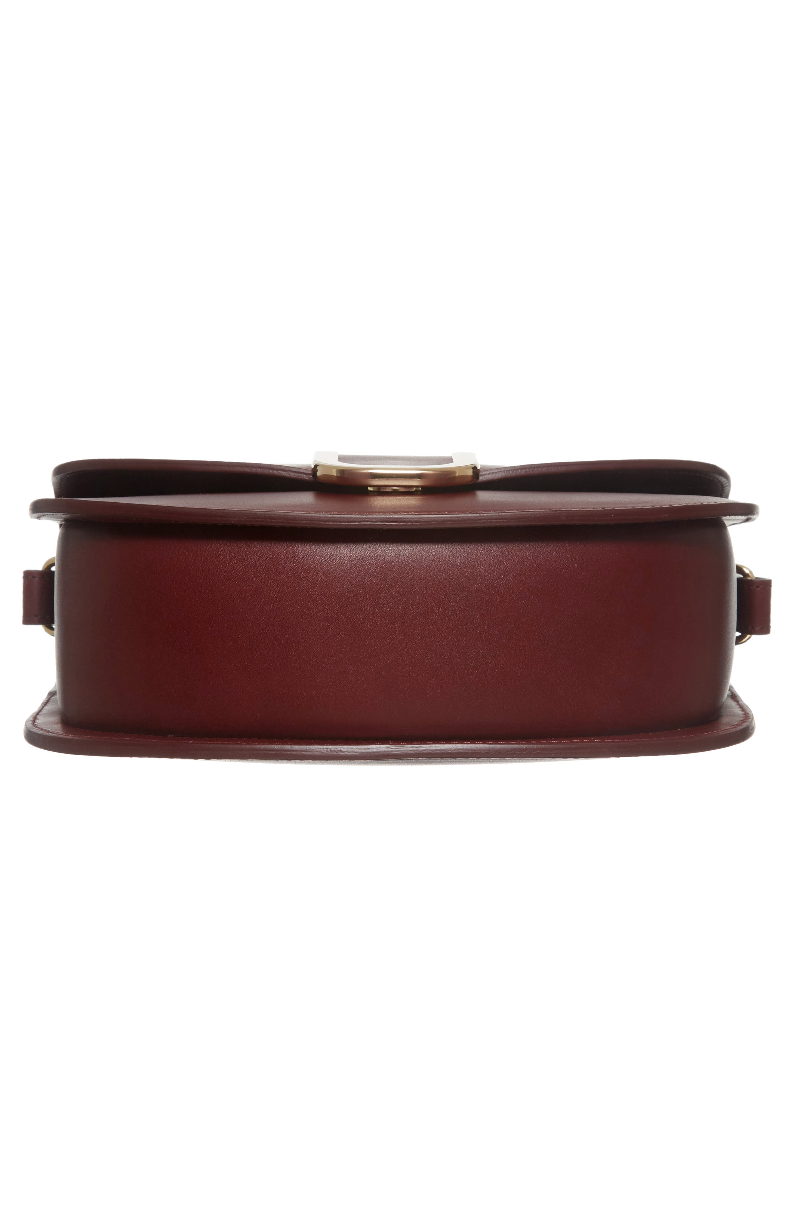 Soho Calfskin Leather Saddle Bag,                             Alternate thumbnail 6, color,                             600