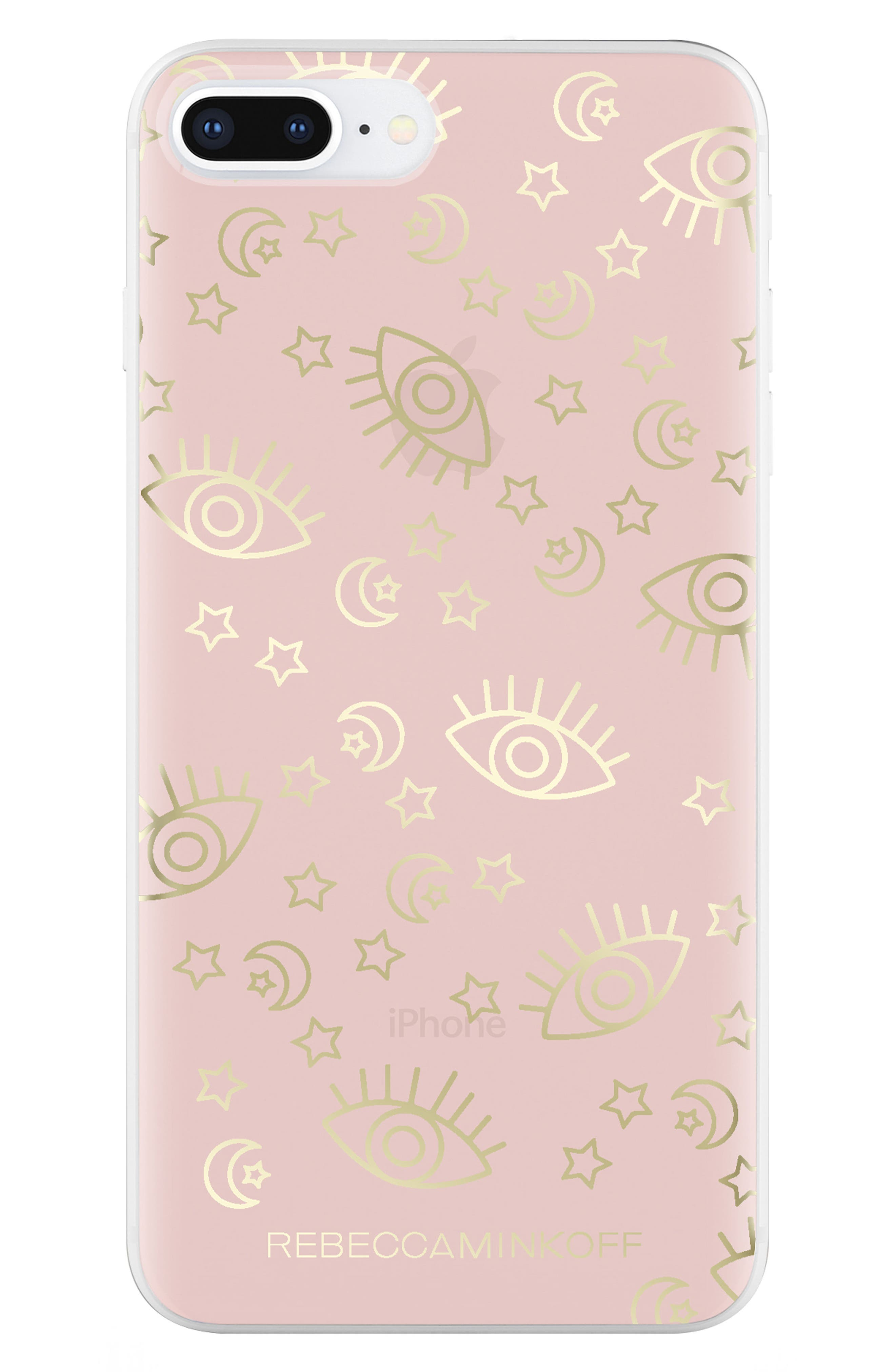 Metallic Galaxy Icon iPhone 7/8 & 7/8 Plus Case,                             Alternate thumbnail 7, color,                             ROSE GOLD/ GOLD FOIL