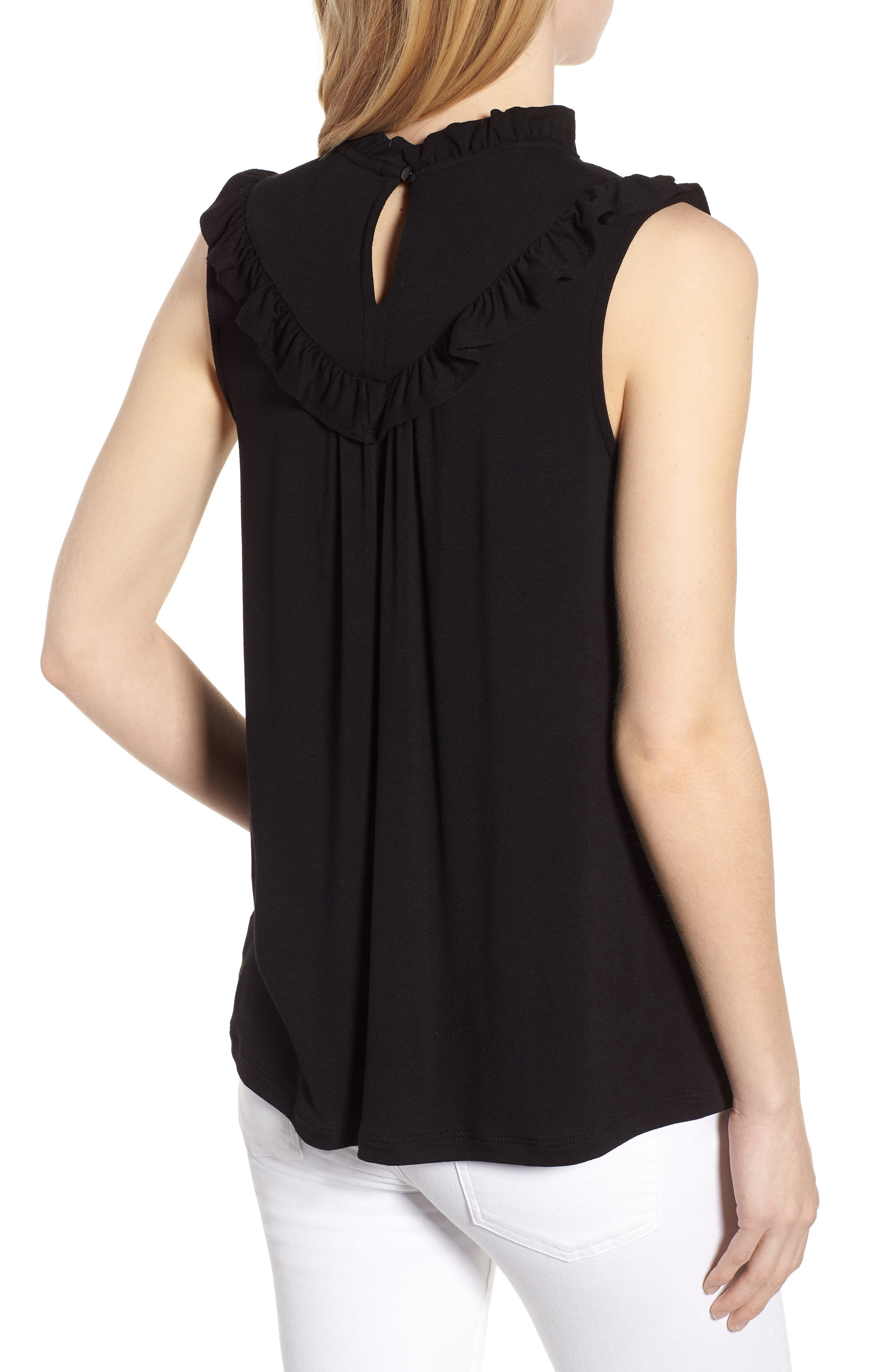 Lace Inset Tank Top,                             Alternate thumbnail 2, color,                             001