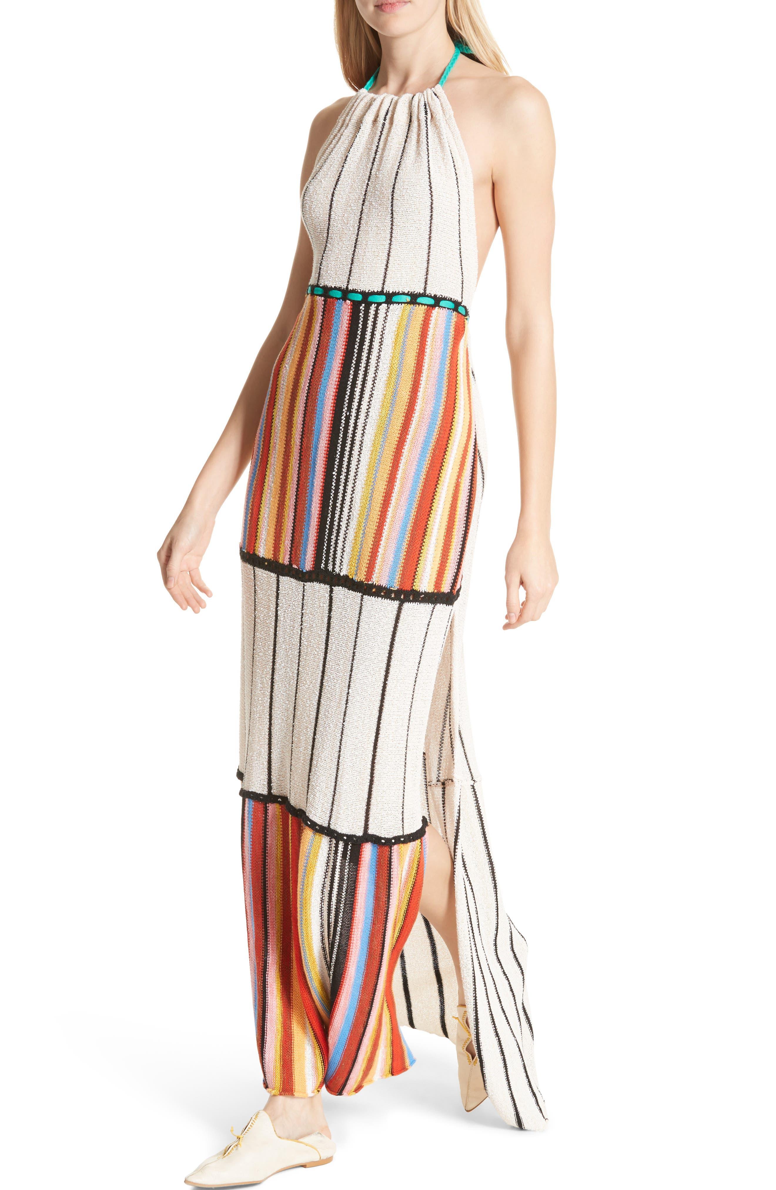 Mardi Gras Halter Maxi Dress,                             Alternate thumbnail 6, color,