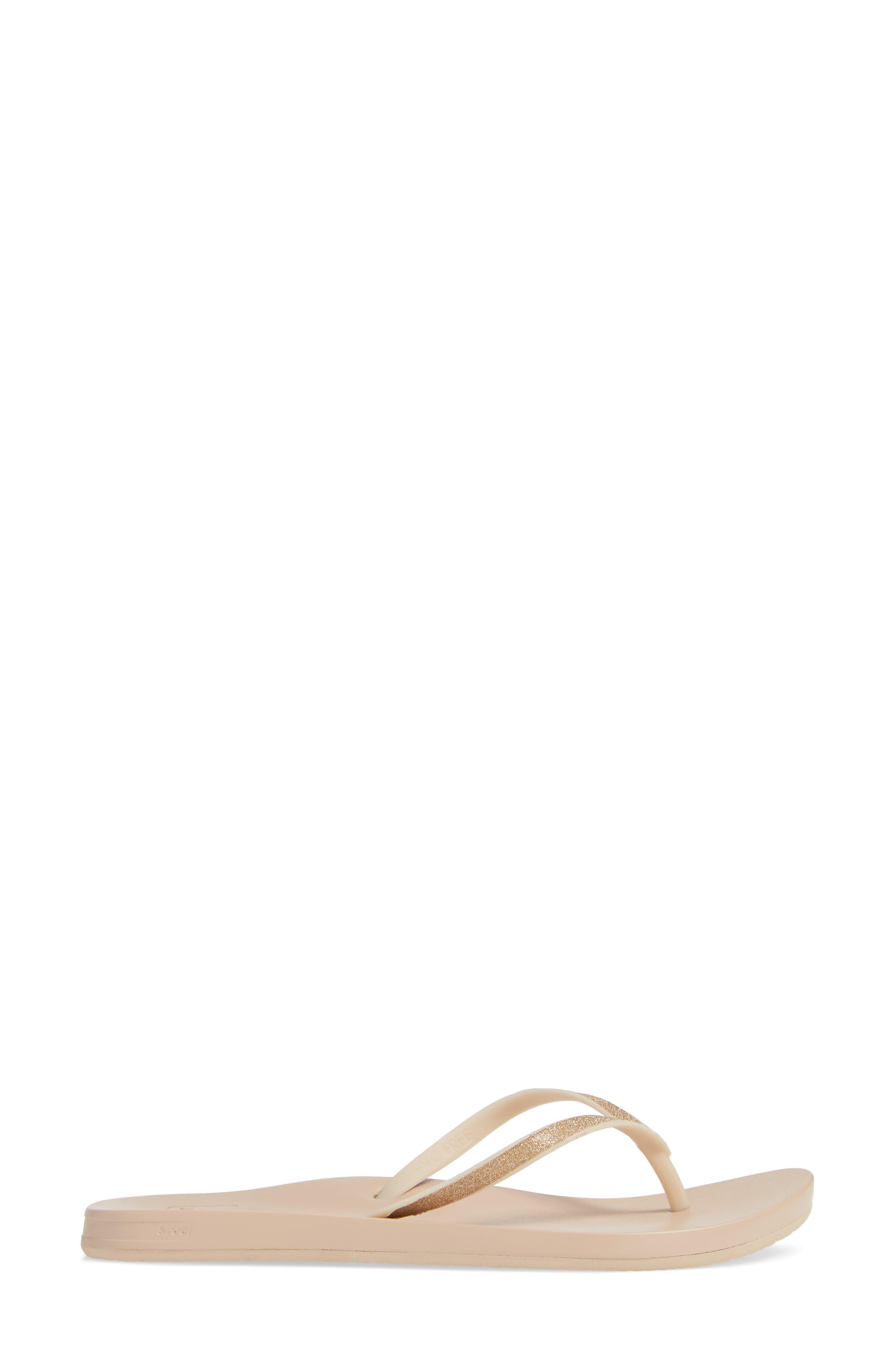 Cushion Bounce Stargazer Flip Flop,                             Alternate thumbnail 3, color,                             FRAPPE
