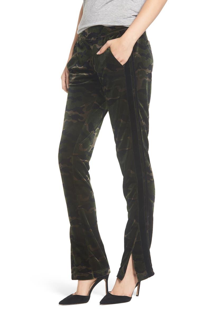 Pam & Gela SIDE SLIT VELOUR TRACK PANTS
