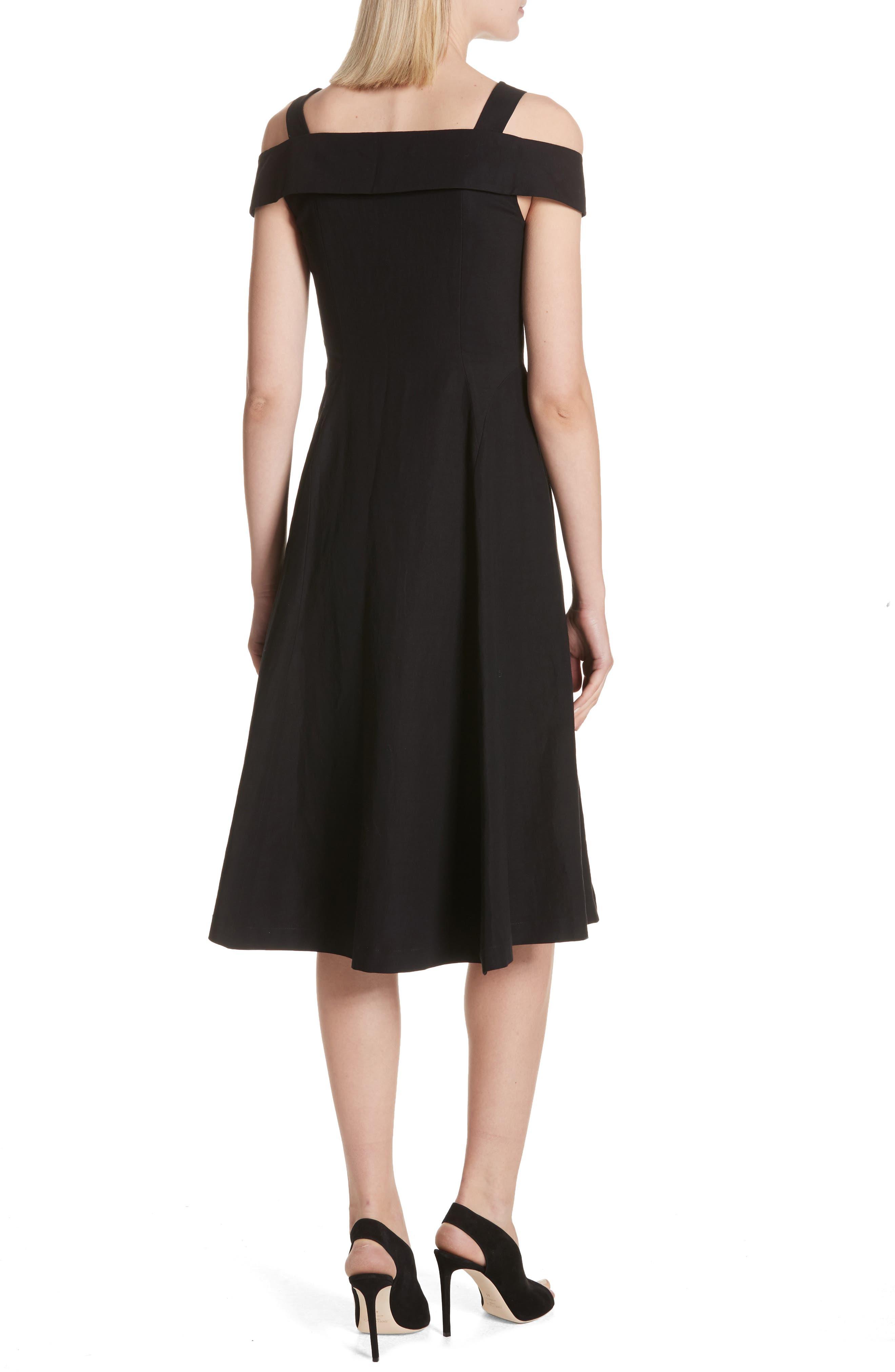 Hudson Cold Shoulder Dress,                             Alternate thumbnail 2, color,                             001