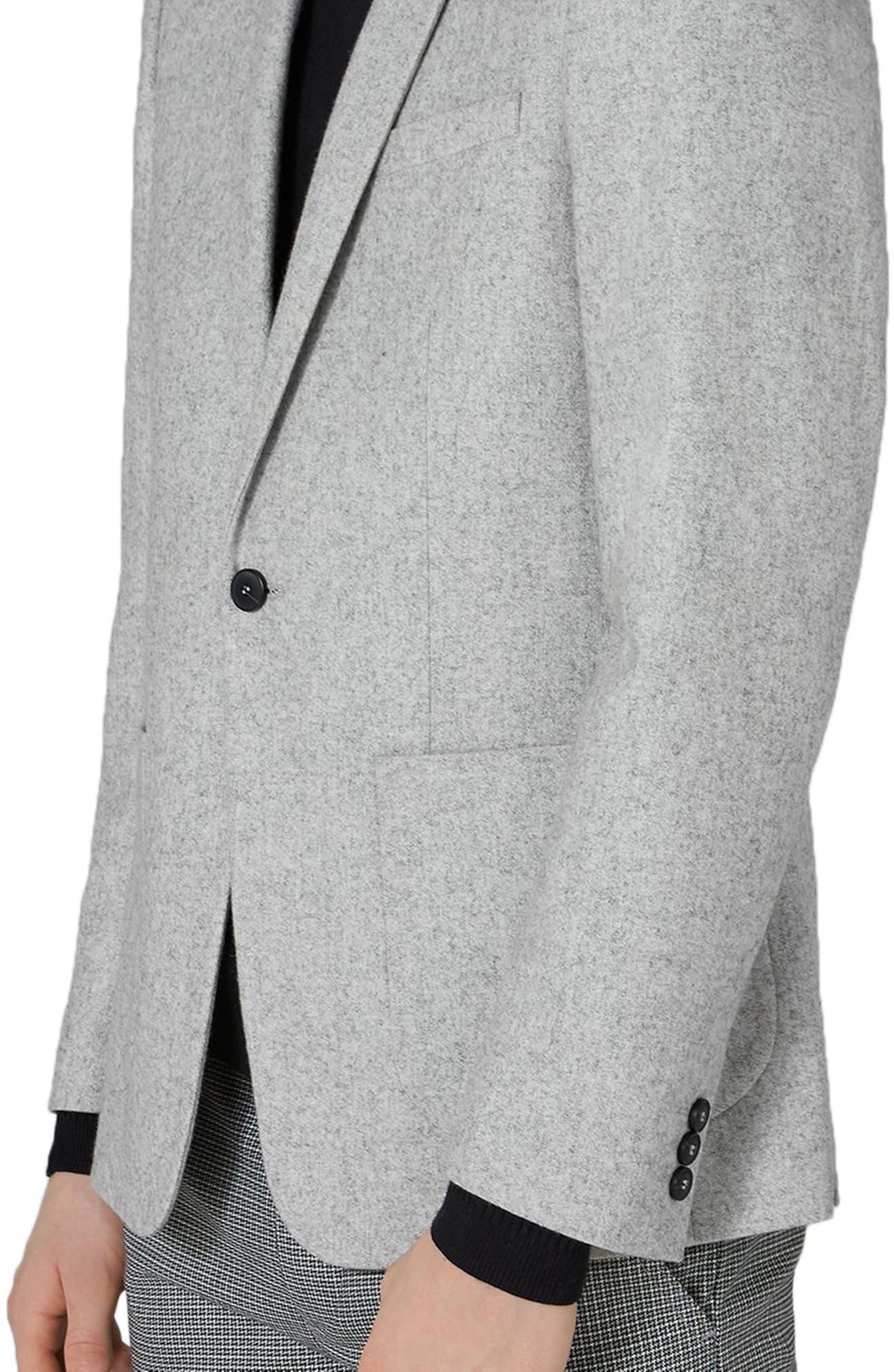 Murdoch One-Button Jacket,                             Alternate thumbnail 3, color,                             LIGHT GREY