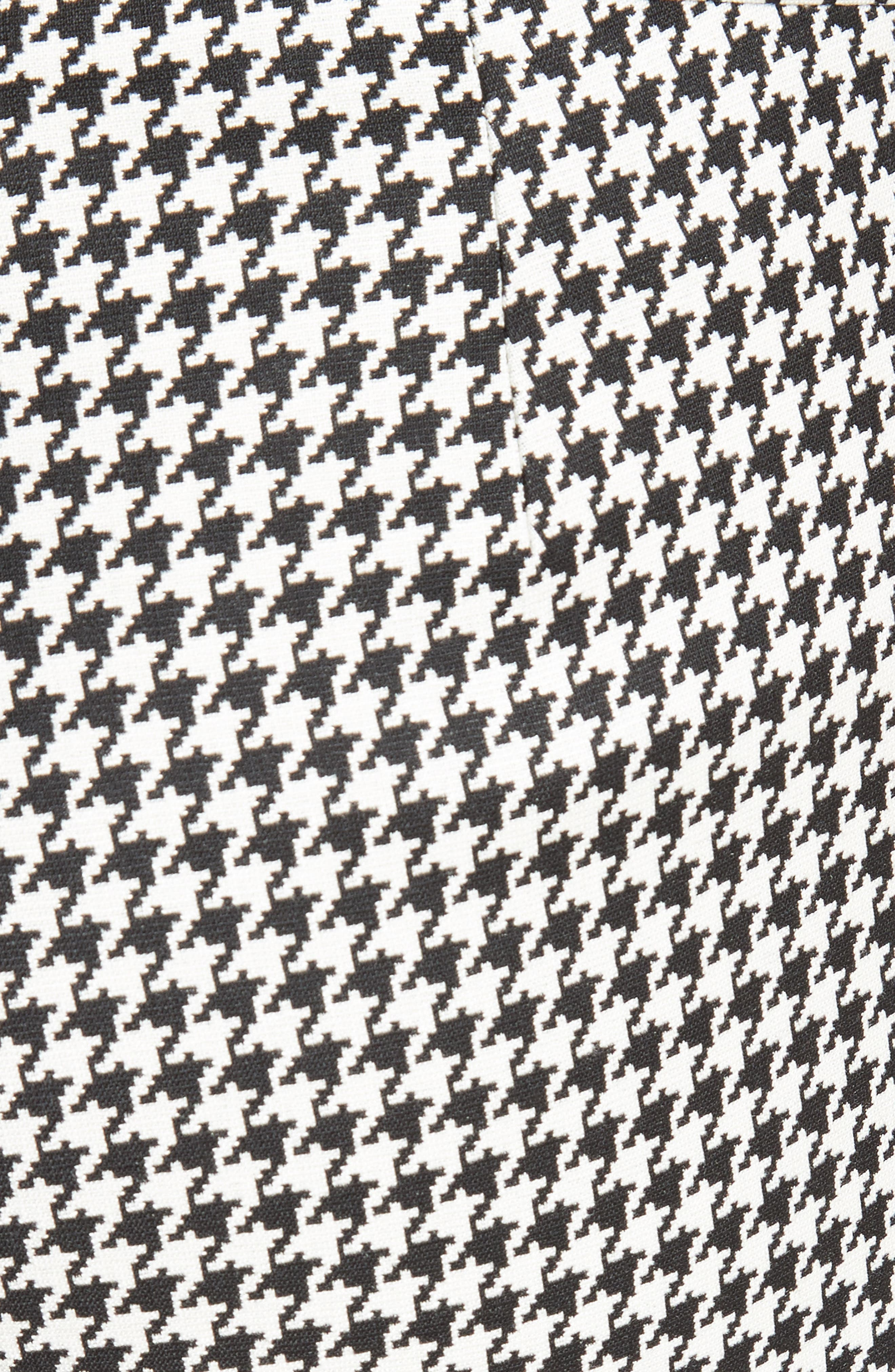 Astrale Houndstooth Wool Blend Pants,                             Alternate thumbnail 5, color,                             001