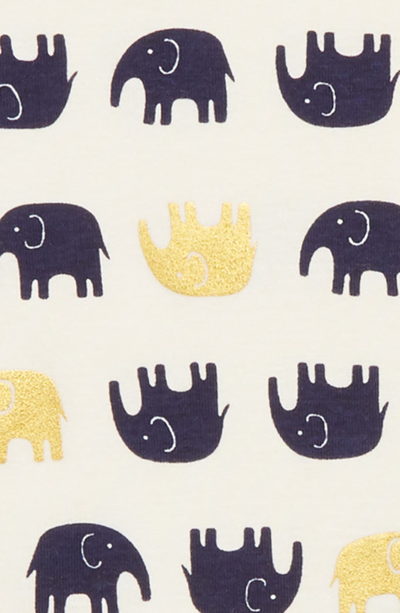 Elephants Fitted Two-Piece Pajamas,                             Alternate thumbnail 2, color,                             400