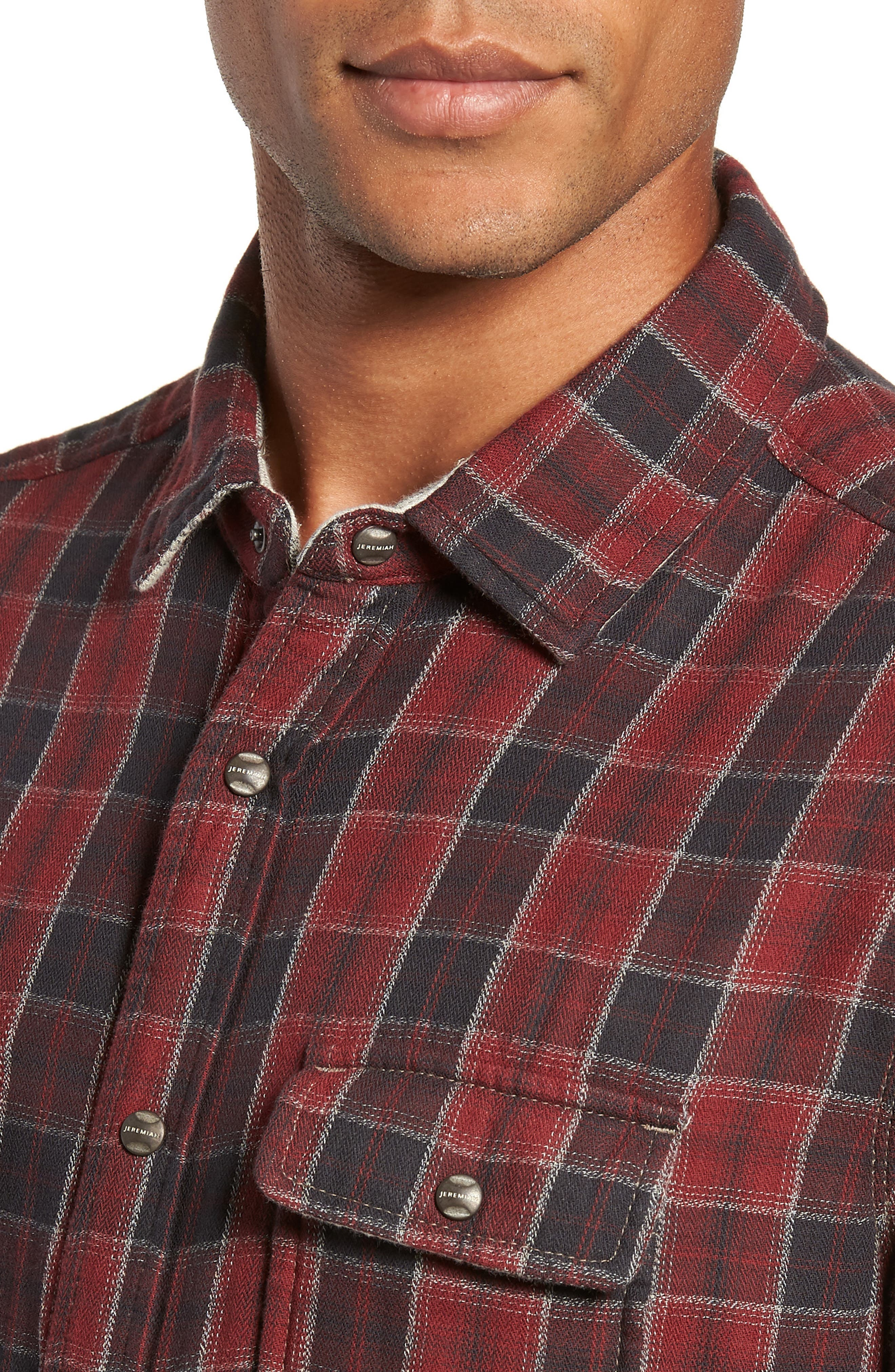 Boulder Regular Fit Reversible Plaid Shirt,                             Alternate thumbnail 3, color,                             OXBLOOD