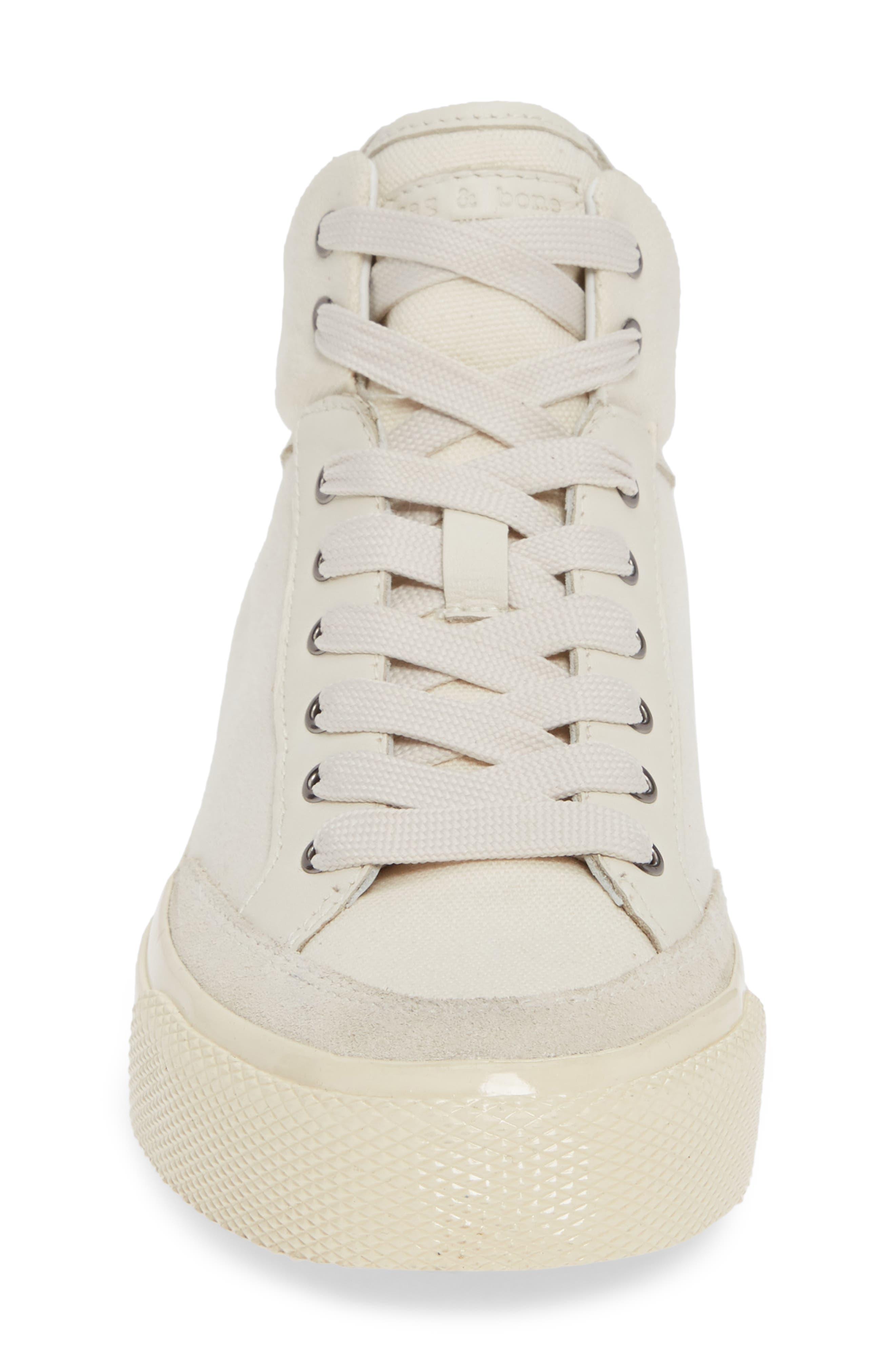 Army High Top Sneaker,                             Alternate thumbnail 4, color,                             ECRU CANVAS