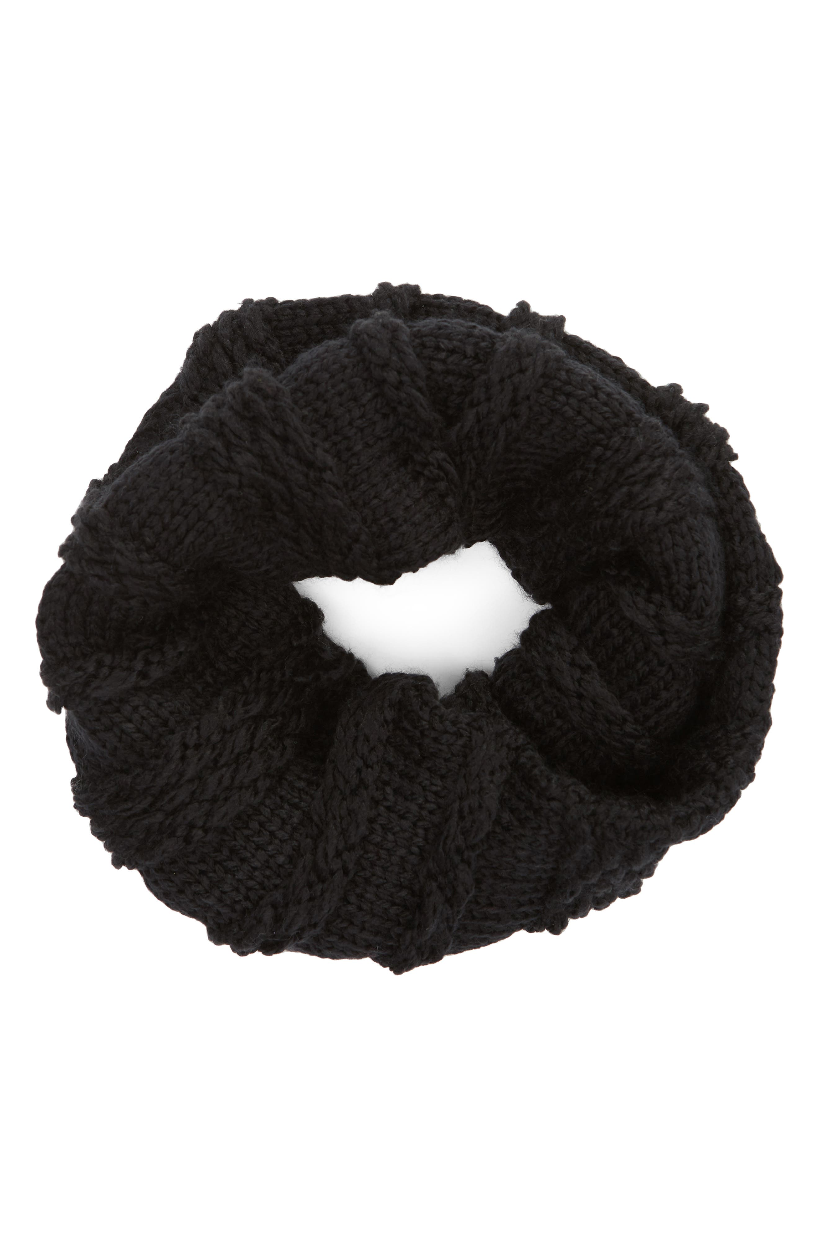 Chunky Neck Warmer,                             Alternate thumbnail 2, color,                             BLACK