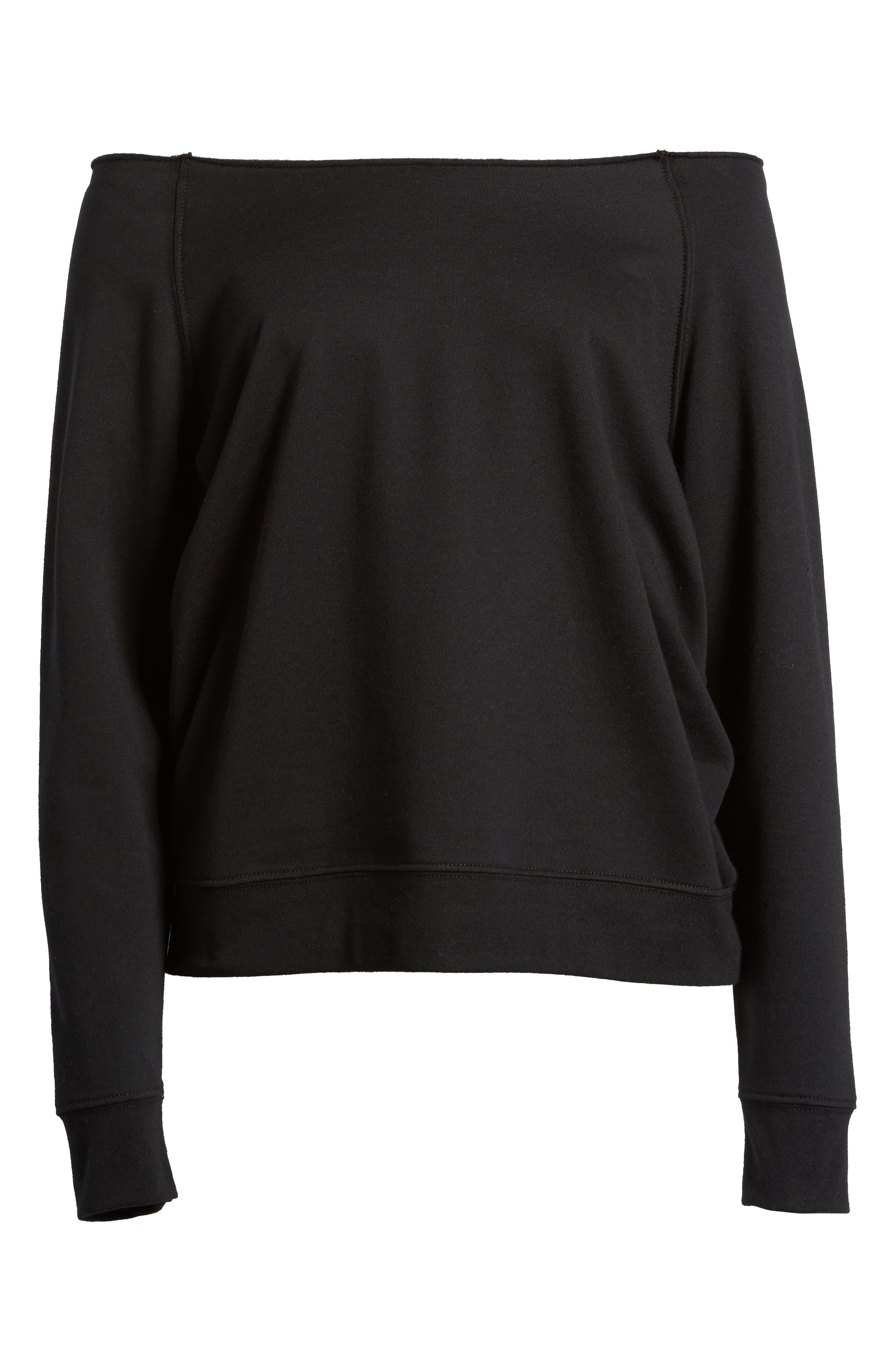 Raw Neck Sweatshirt,                             Alternate thumbnail 6, color,                             001