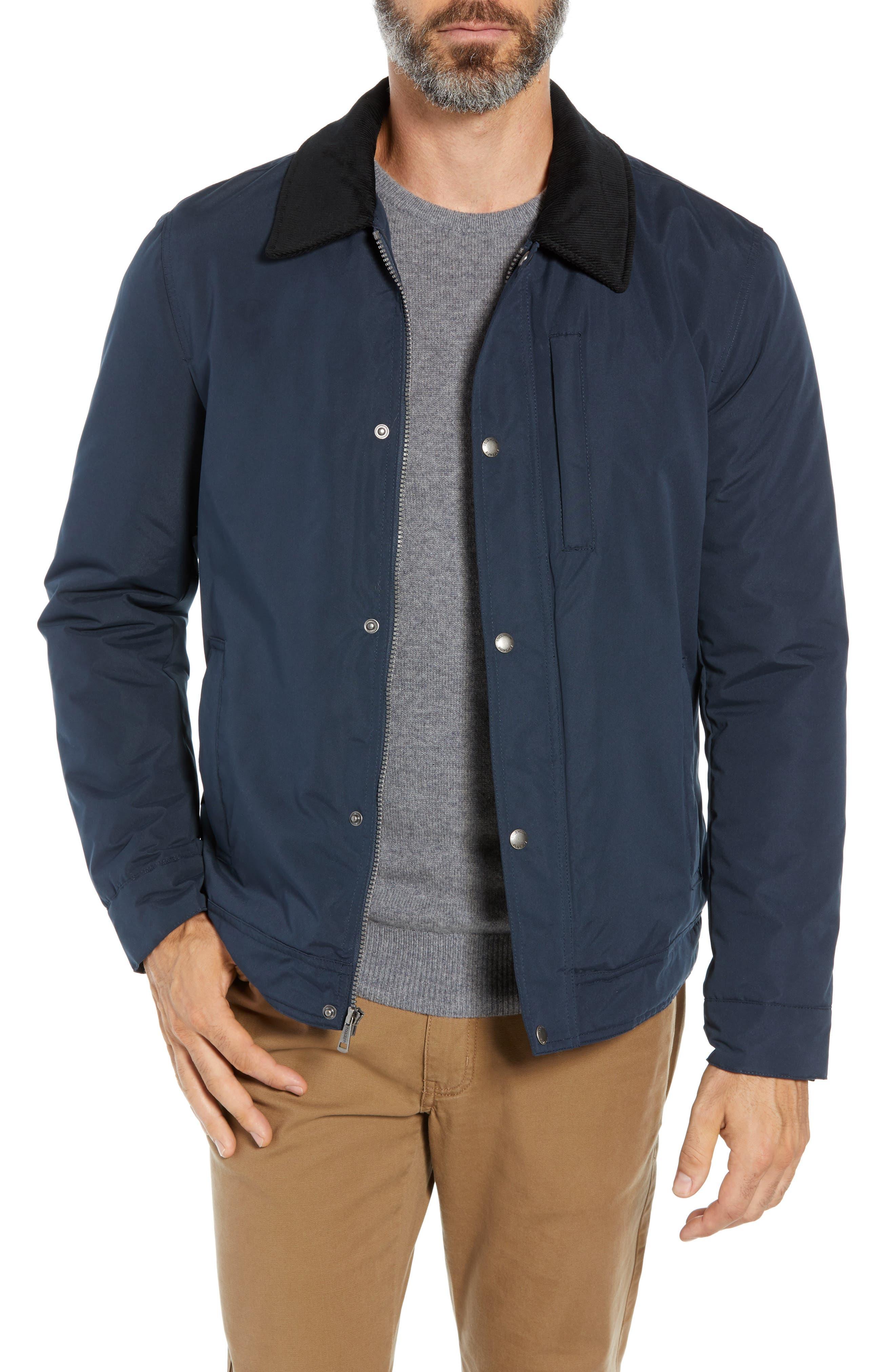 Cole Haan Signature City Rain Barn Jacket, Blue