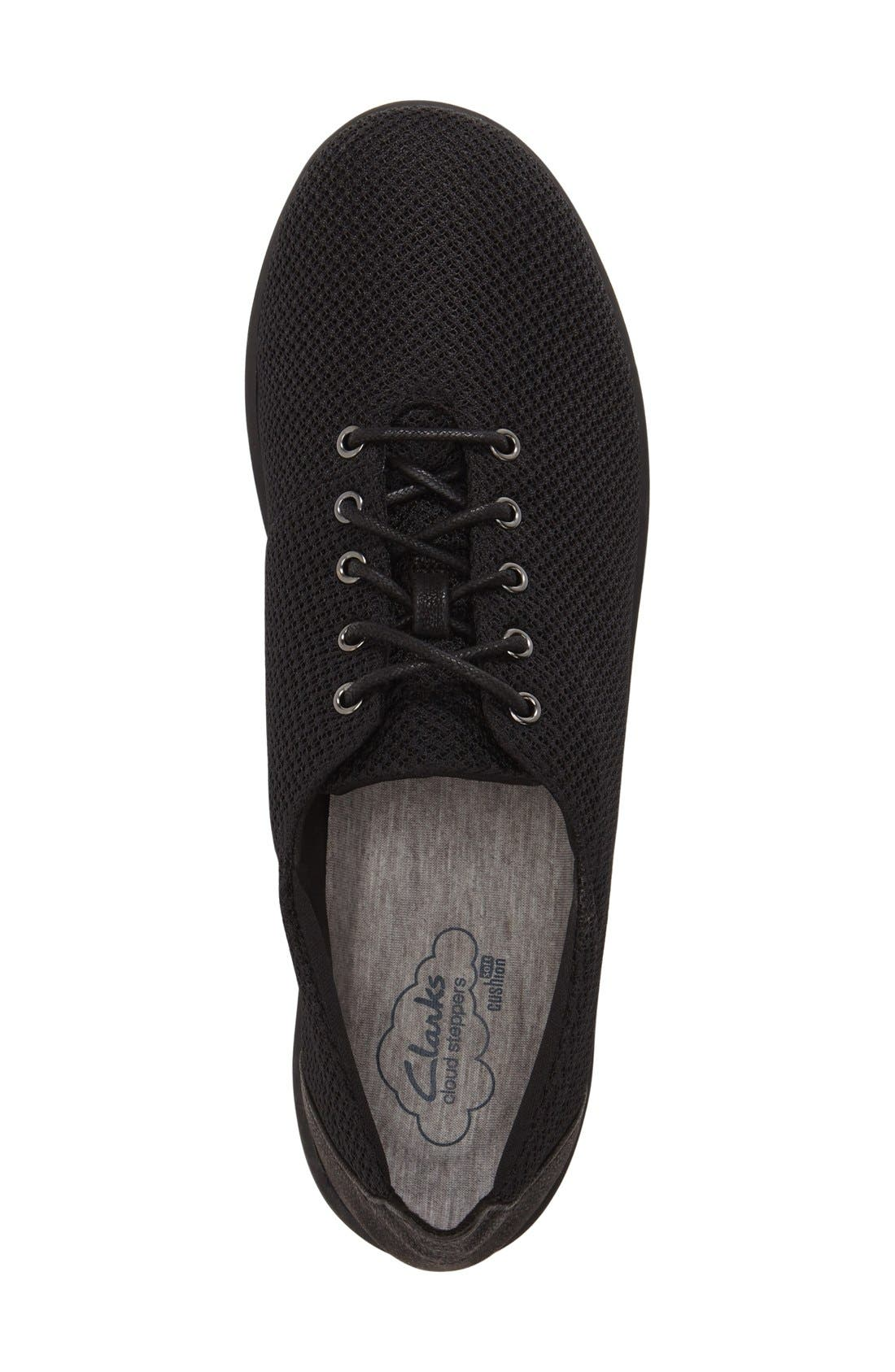 Clarks<sup>®</sup> 'Sillian - Tino' Sneaker,                             Alternate thumbnail 6, color,                             001