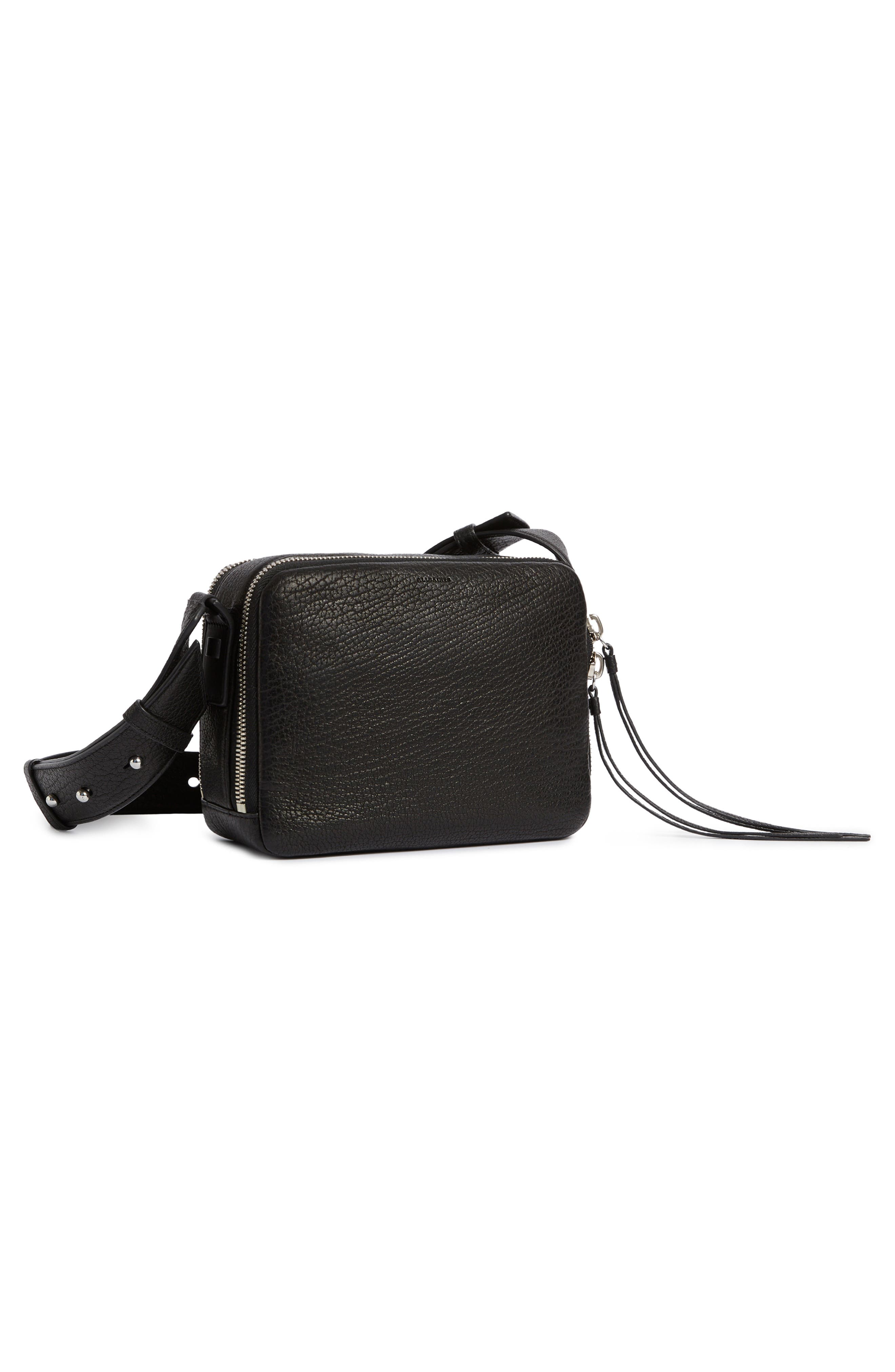 Vincent Leather Crossbody Bag,                             Alternate thumbnail 7, color,                             001