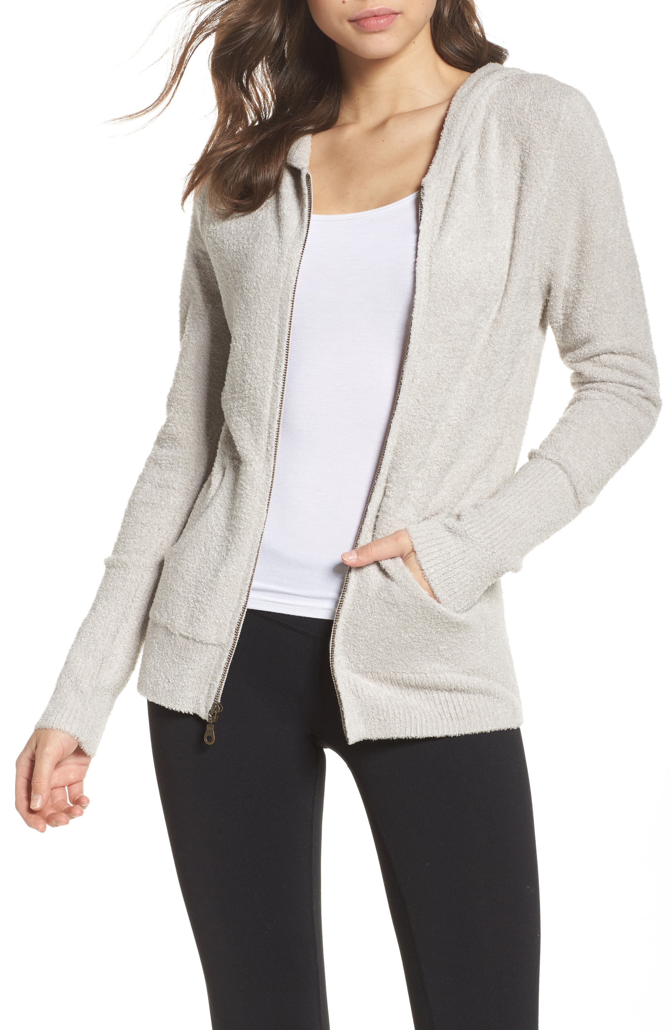 Cozychic Lite<sup>®</sup> Lounge Hoodie,                         Main,                         color, SILVER