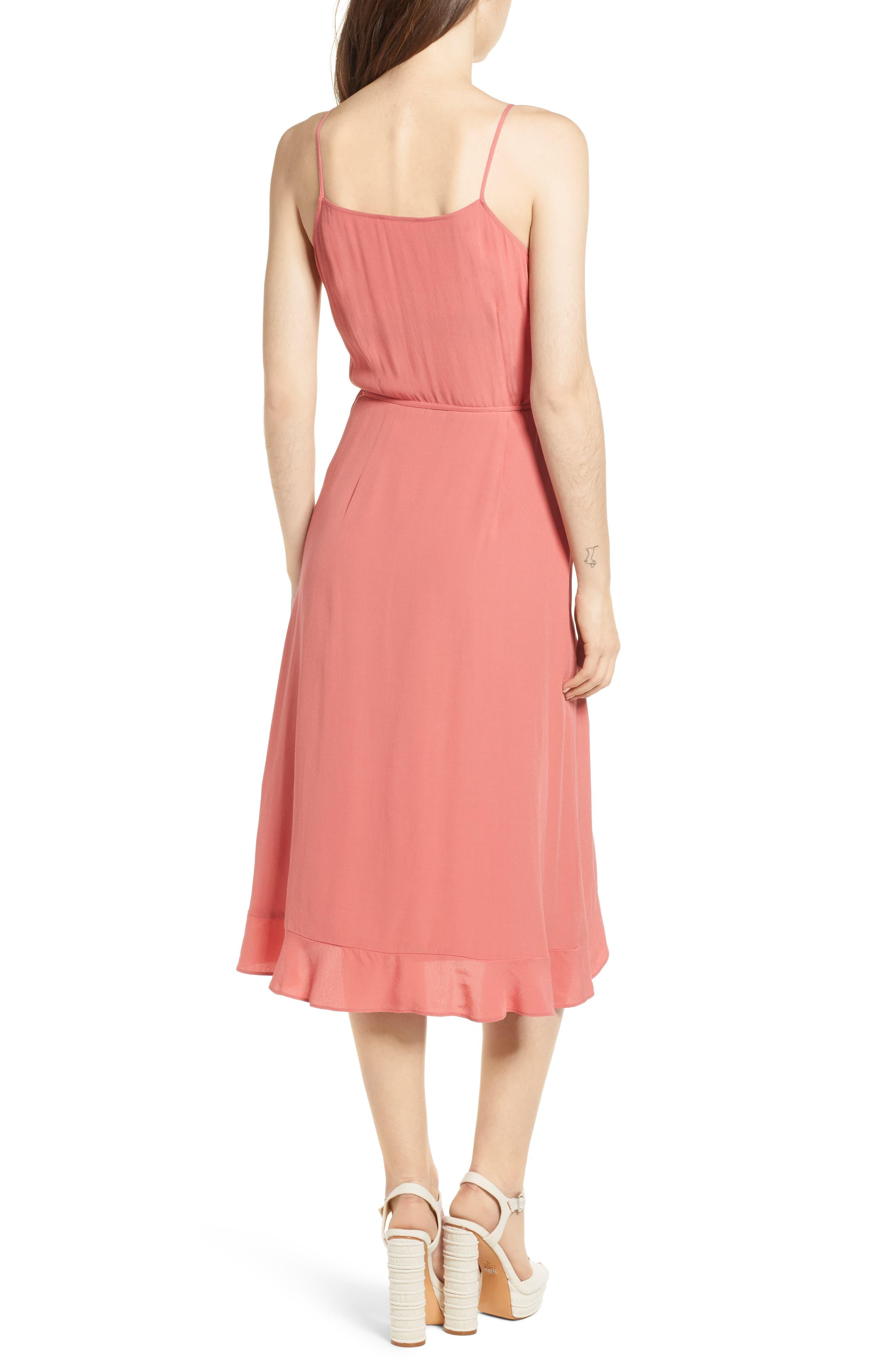 Flounce Wrap Midi Dress,                             Alternate thumbnail 7, color,