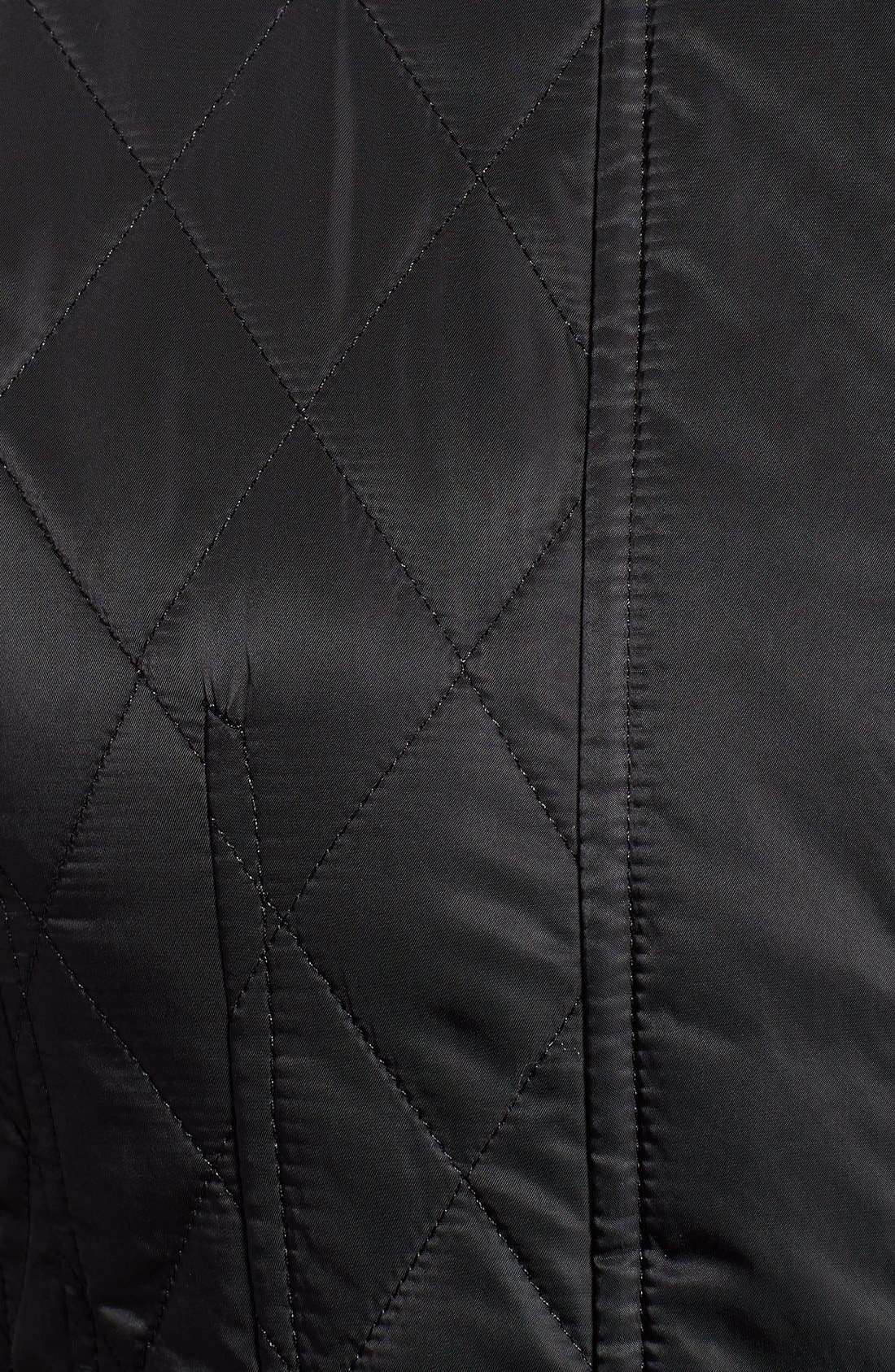 VINCE CAMUTO,                             Velvet Trim Quilted Riding Jacket,                             Alternate thumbnail 2, color,                             001