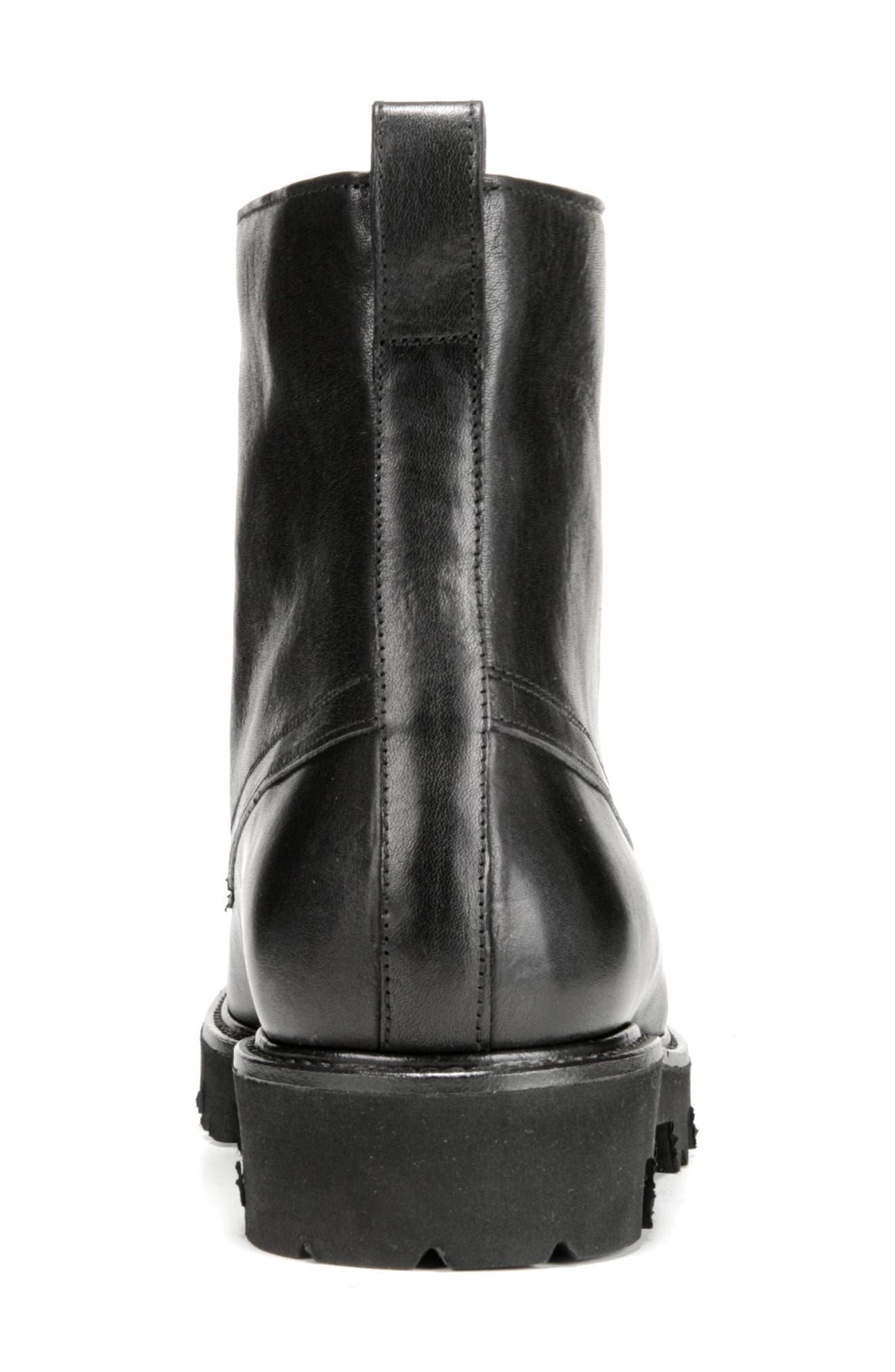 Commander Plain Toe Boot,                             Alternate thumbnail 7, color,                             BLACK