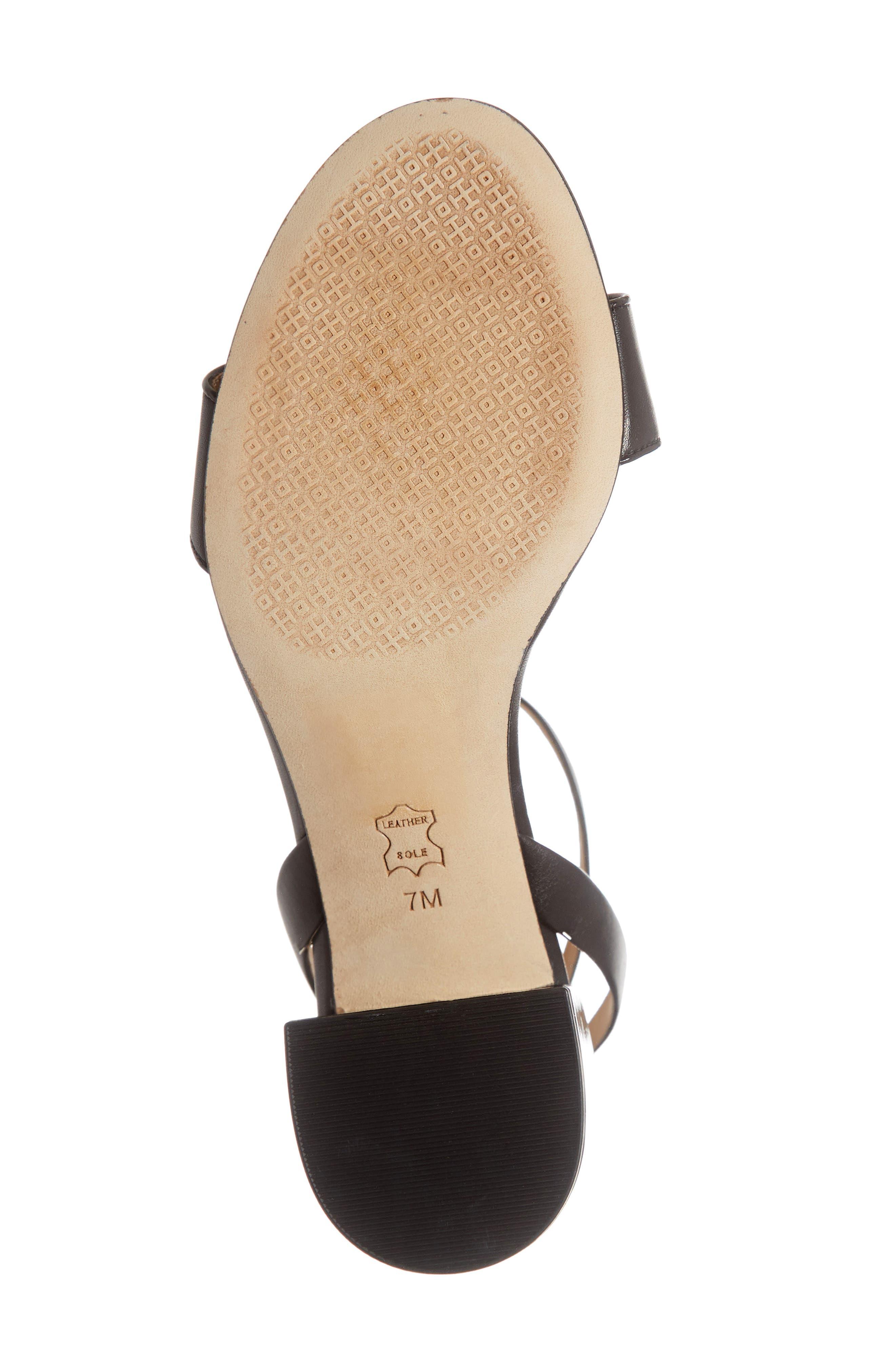 Kira Block Heel Sandal,                             Alternate thumbnail 6, color,                             PERFECT BLACK/ PERFECT BLACK