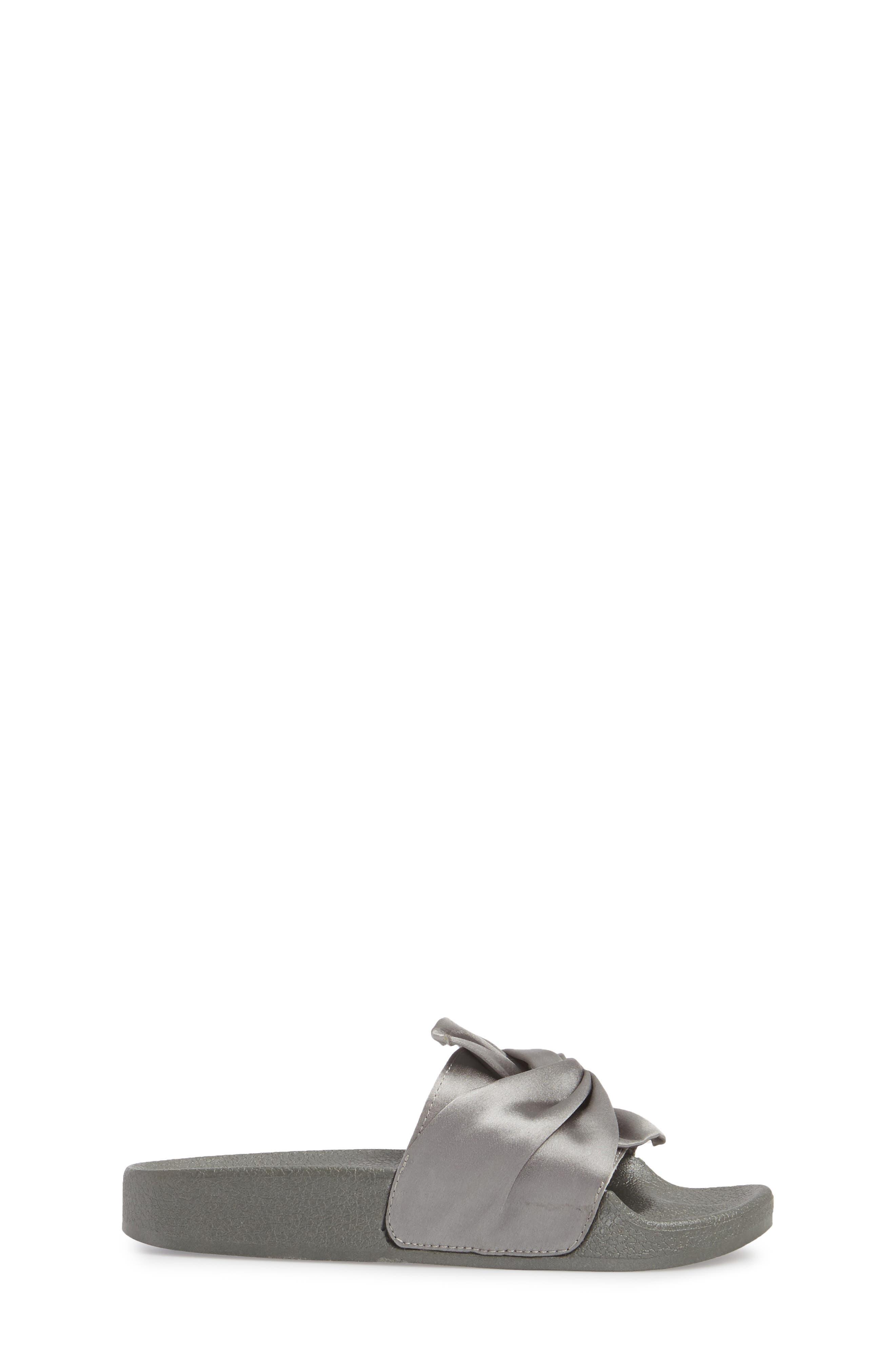 Shower Twist Slide Sandal,                             Alternate thumbnail 3, color,                             GRAY