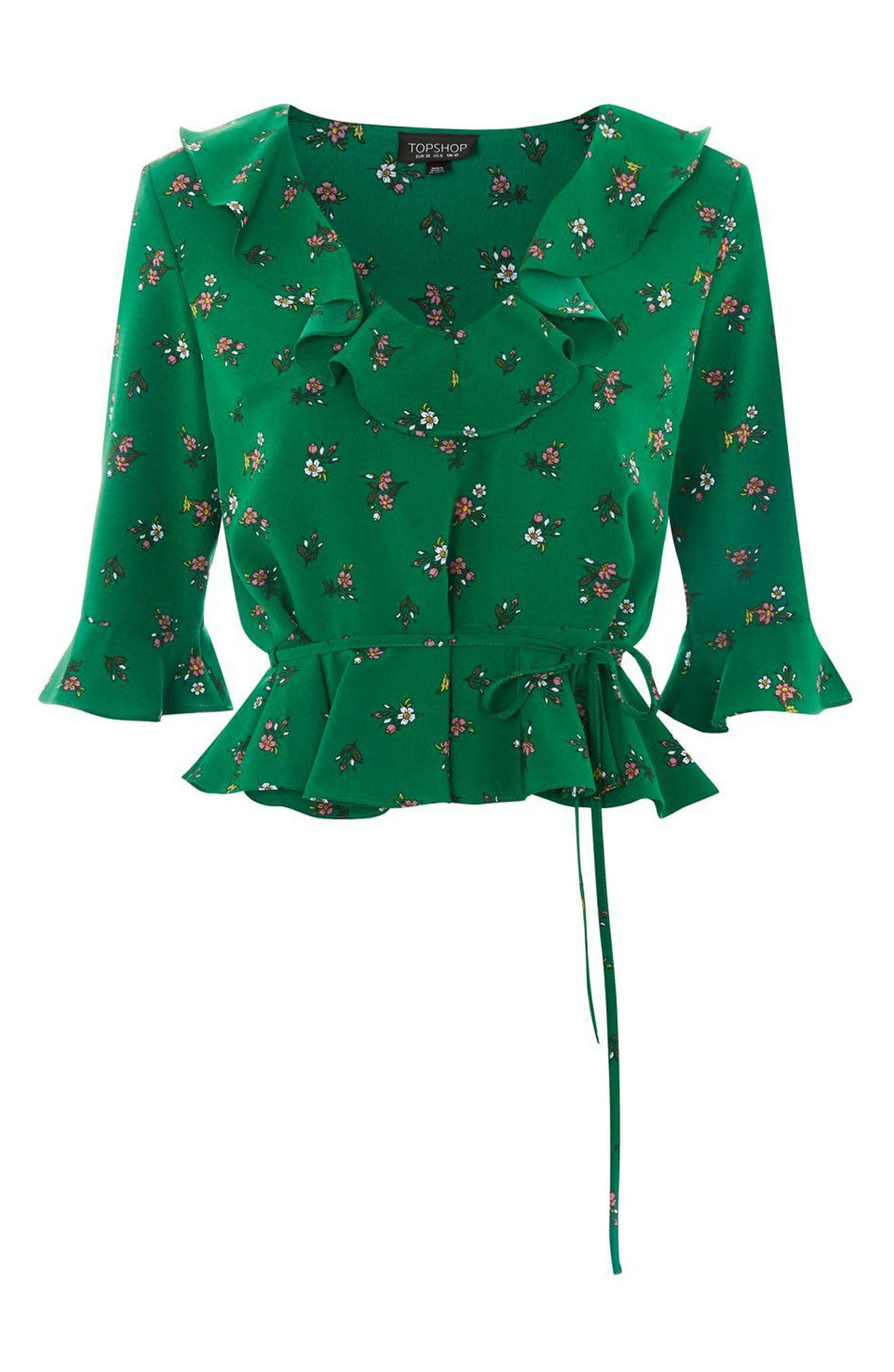 Phoebe Frilly Blouse,                             Alternate thumbnail 16, color,