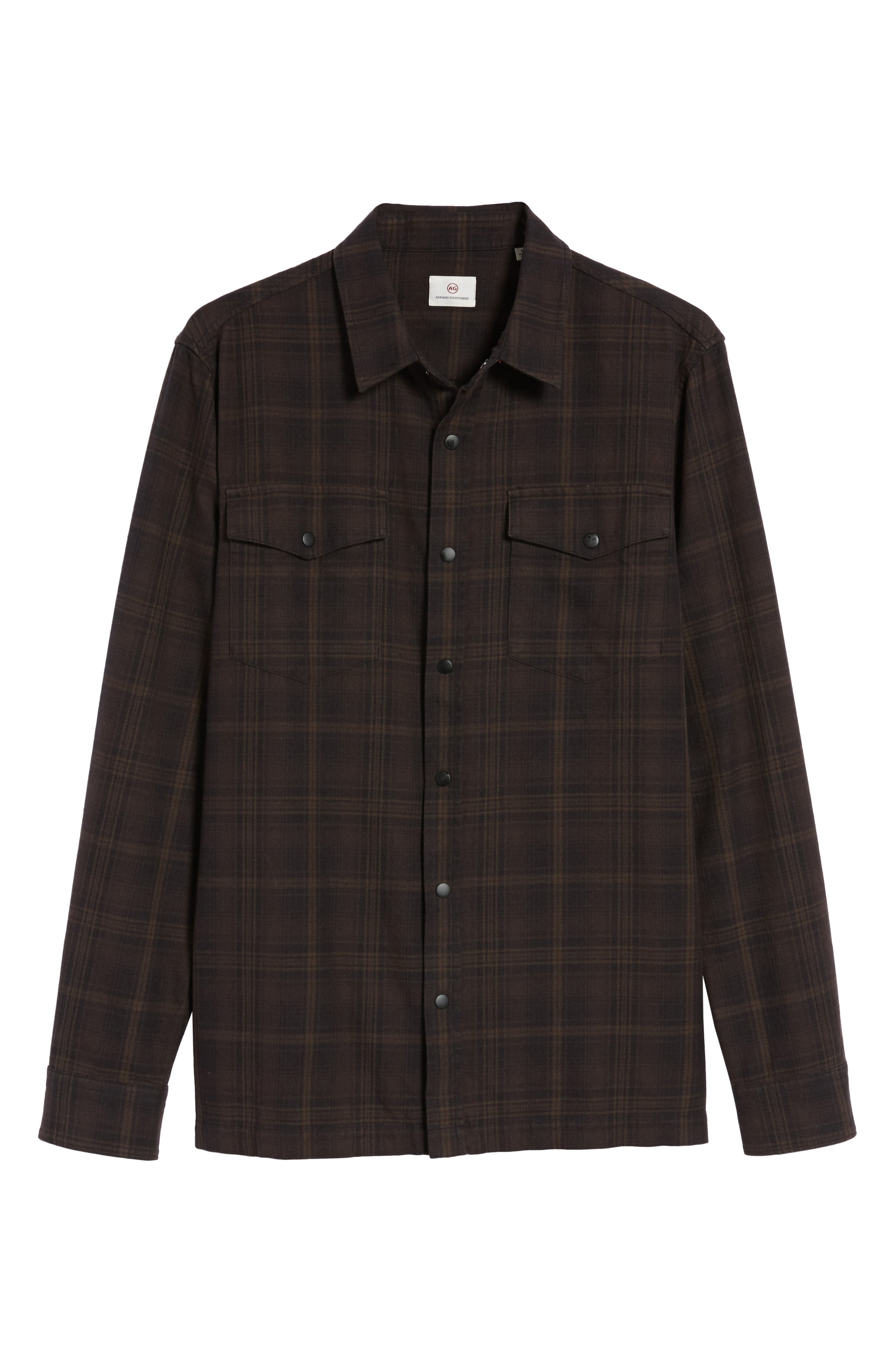 Boone Slim Plaid Overshirt,                             Alternate thumbnail 5, color,                             200
