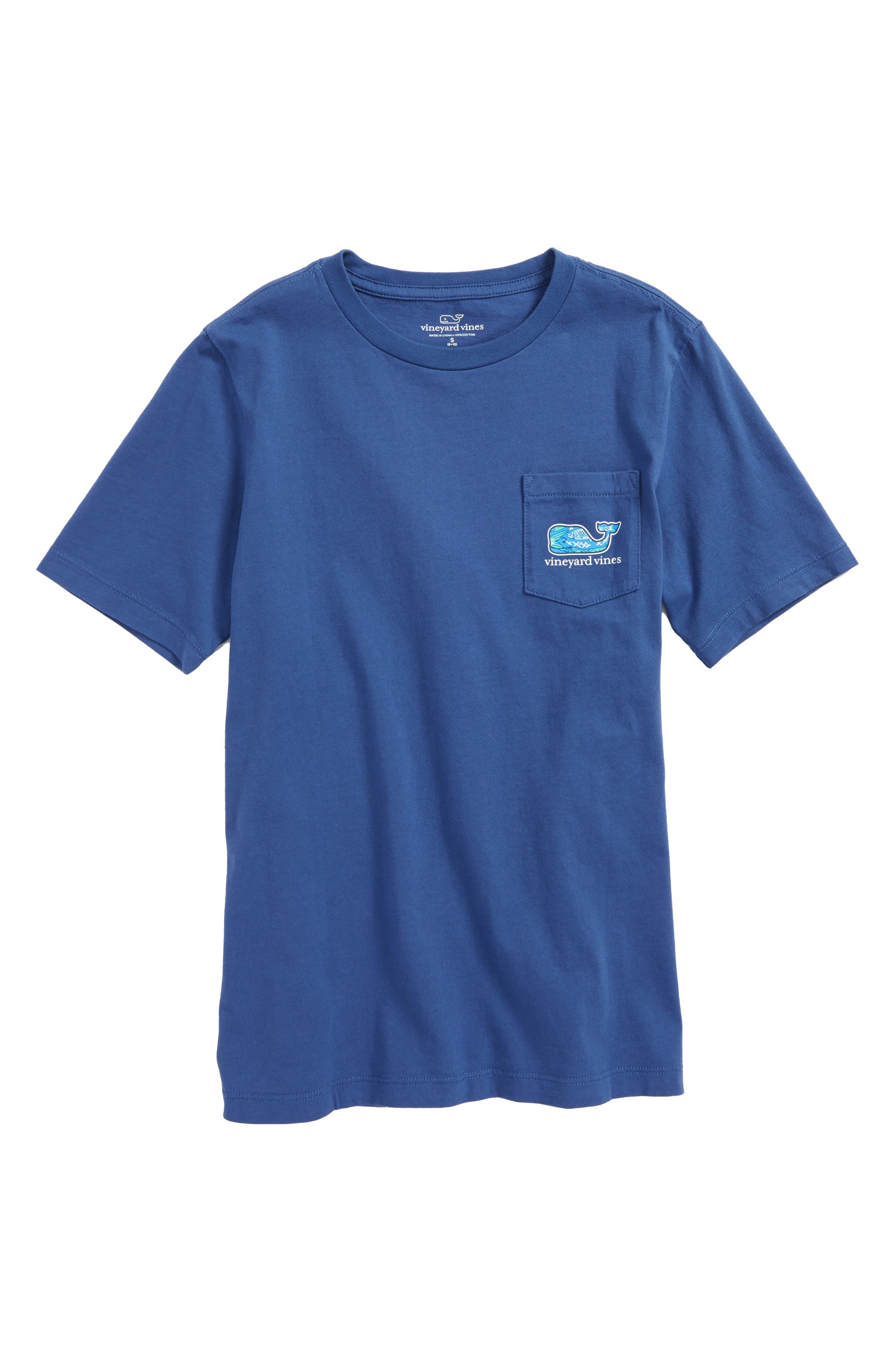 Fish Scales Whale Pocket T-Shirt,                             Main thumbnail 1, color,                             461