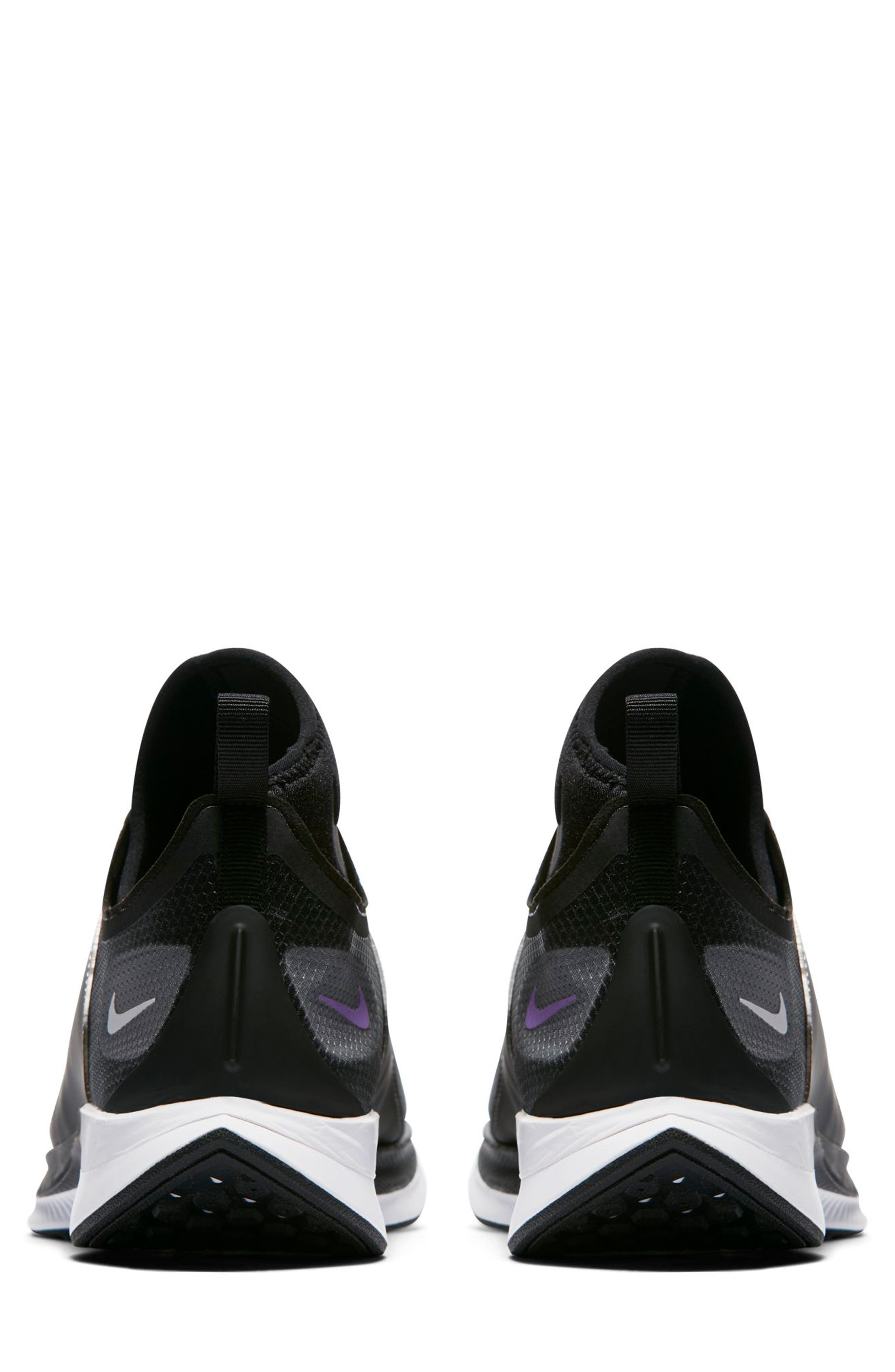 Zoom Pegasus Turbo XX Running Shoe,                             Alternate thumbnail 2, color,                             BLACK/ BLACK/ WHITE