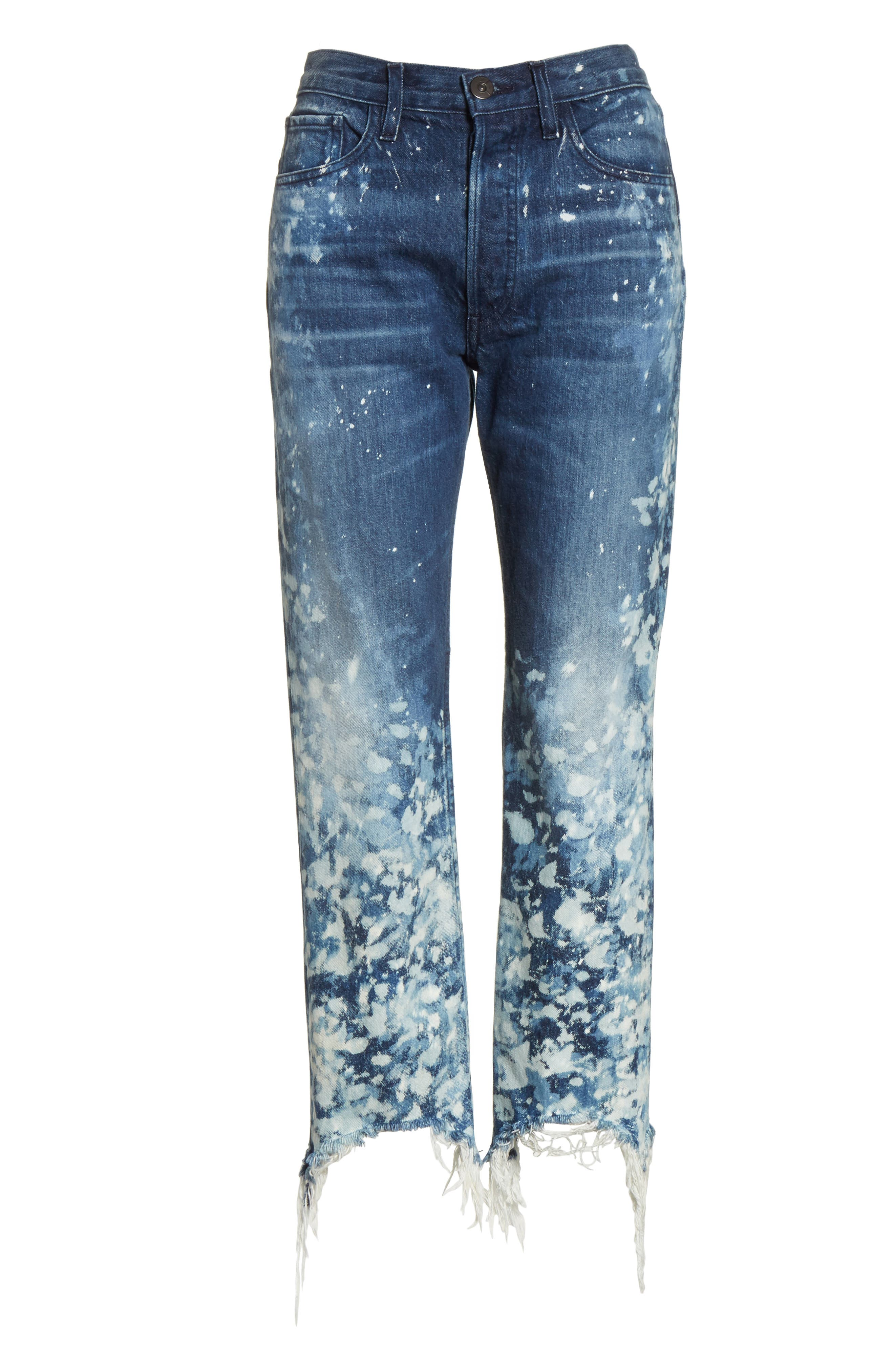 W3 Higher Ground Bleached Ankle Slim Fit Jeans,                             Alternate thumbnail 27, color,