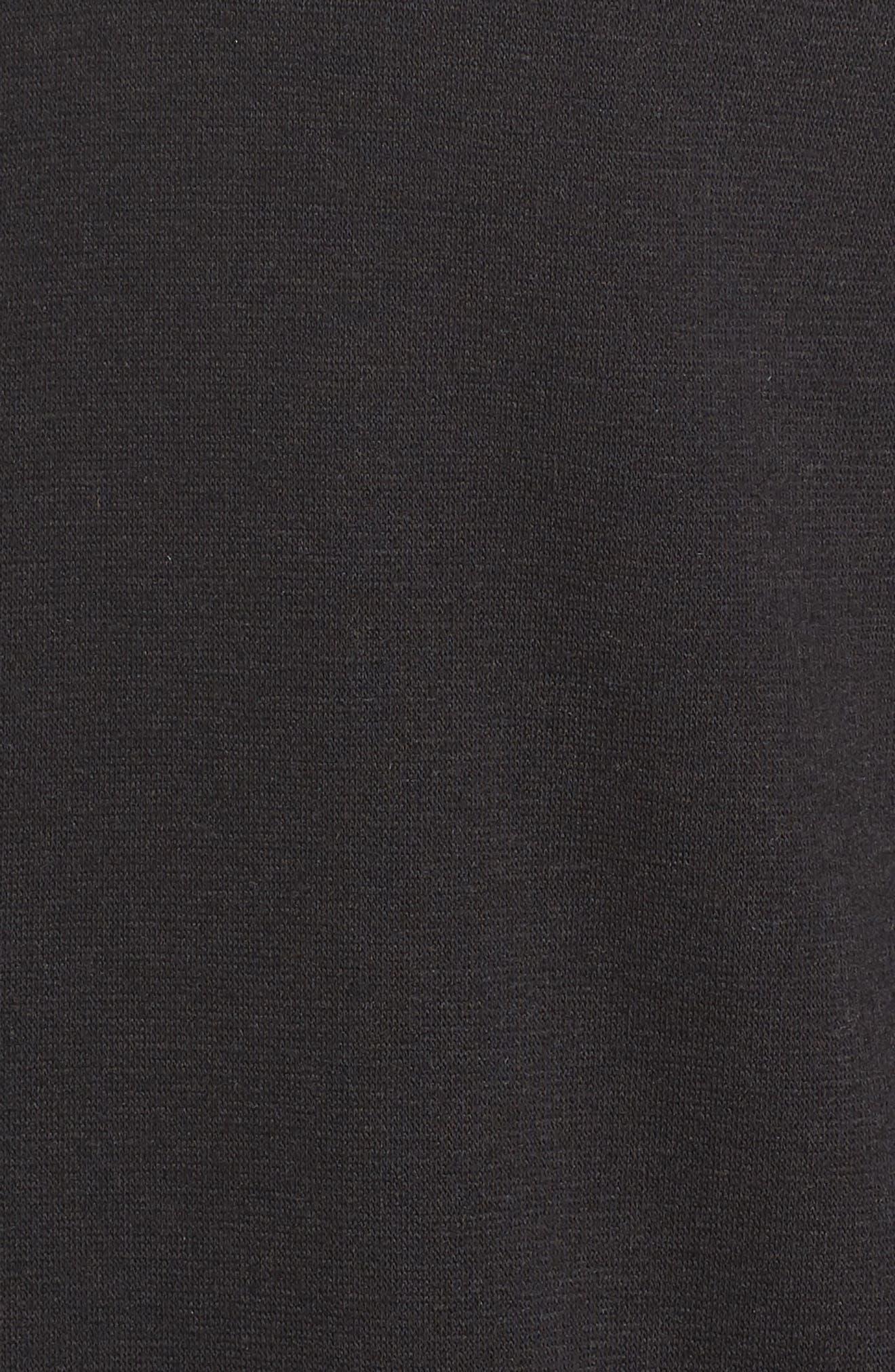 ZELLA,                             Plush Lined Wrap Hooded Jacket,                             Alternate thumbnail 6, color,                             001