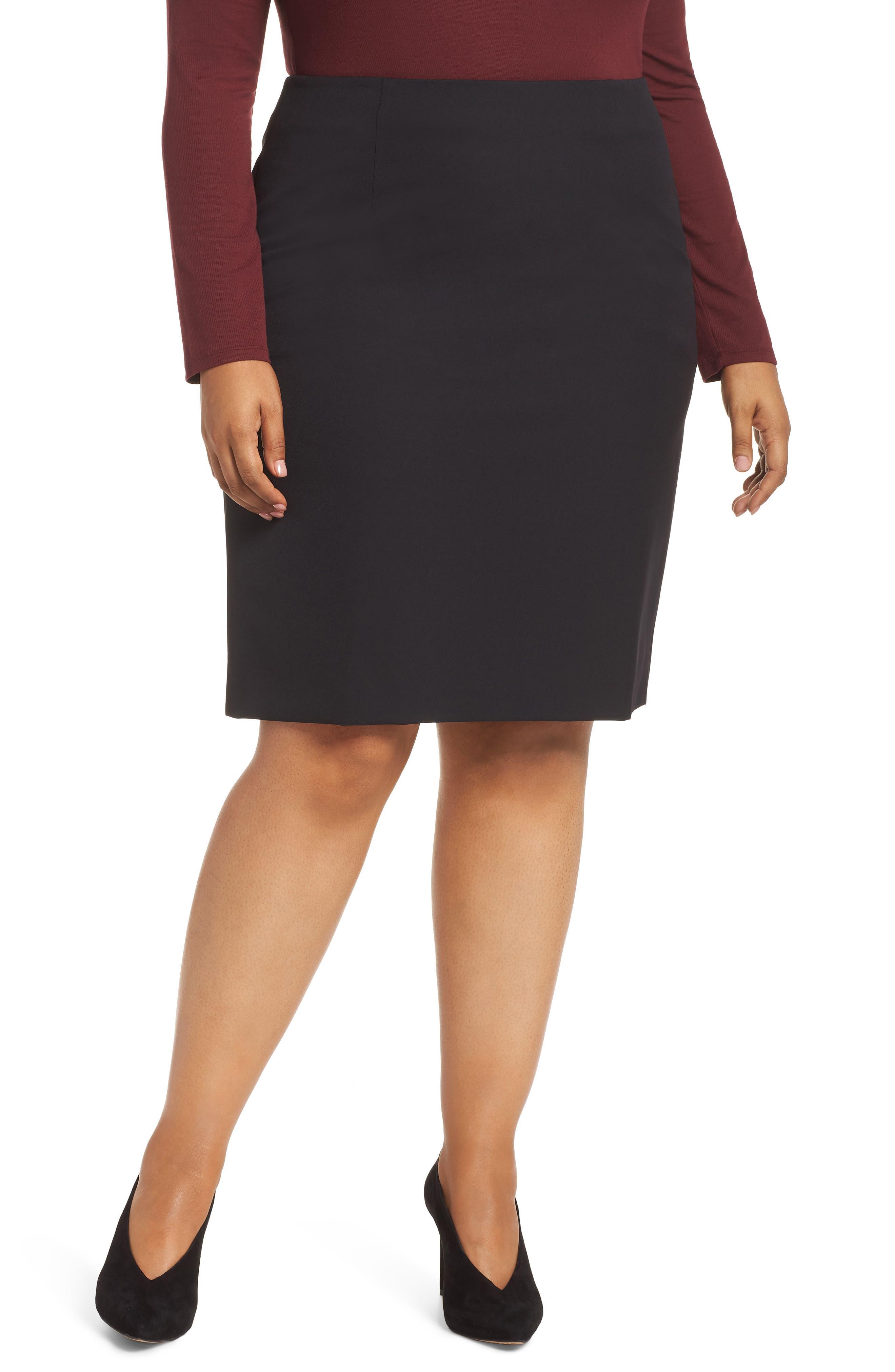 Pencil Skirt,                             Alternate thumbnail 2, color,                             BLACK