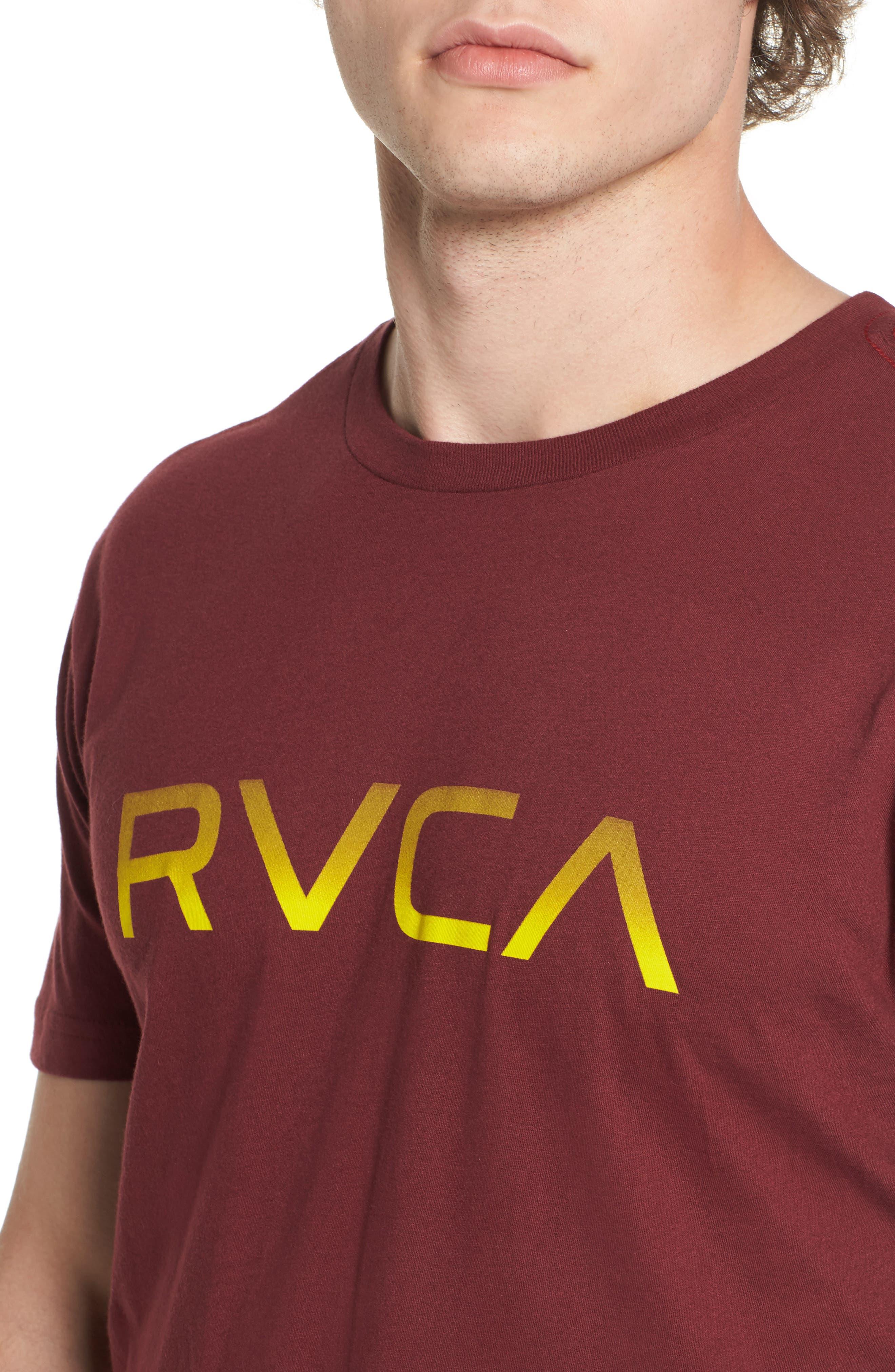 Big RVCA Gradient Logo T-Shirt,                             Alternate thumbnail 8, color,