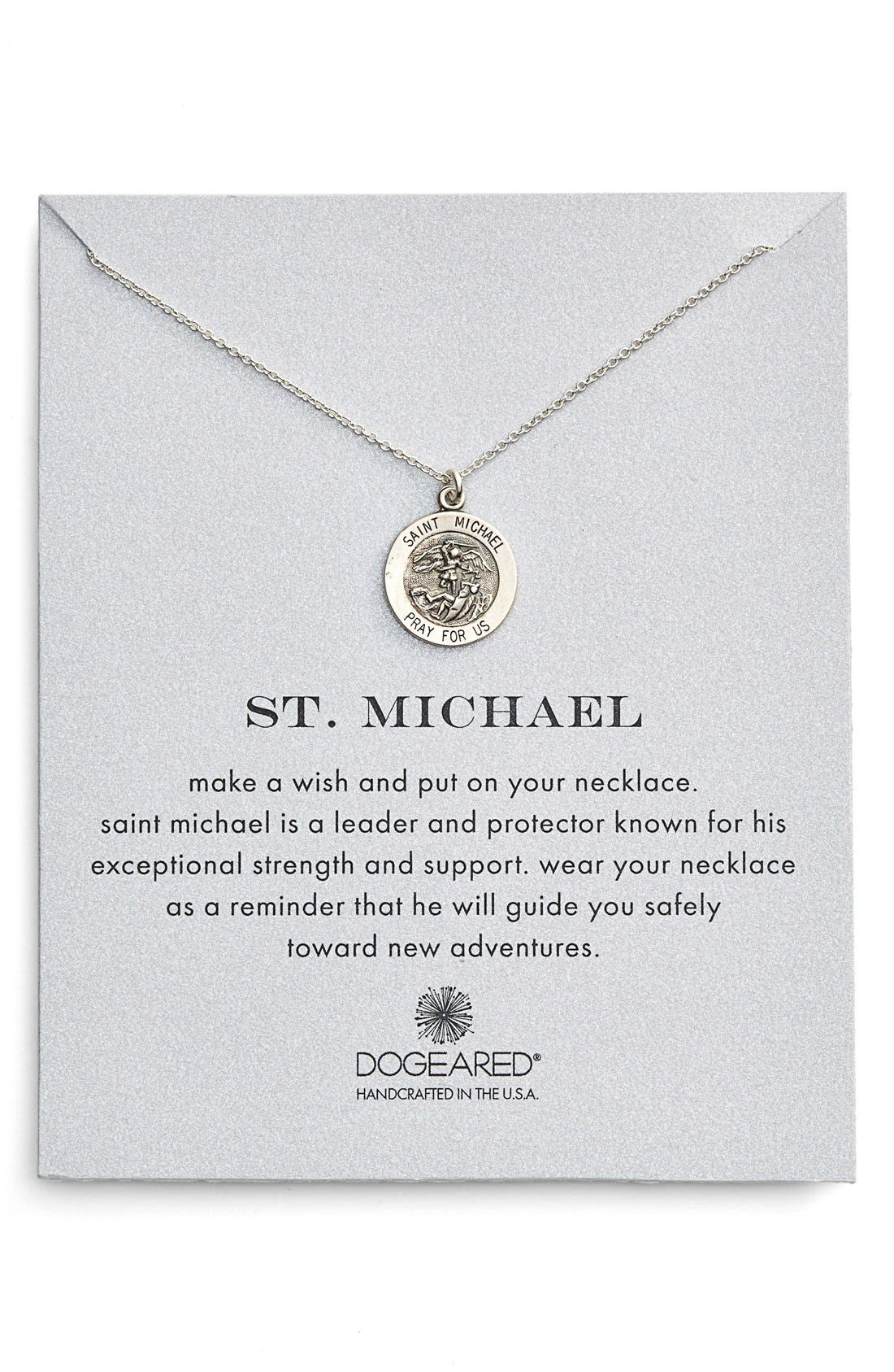 St. Michael Pendant Necklace,                             Alternate thumbnail 4, color,                             040