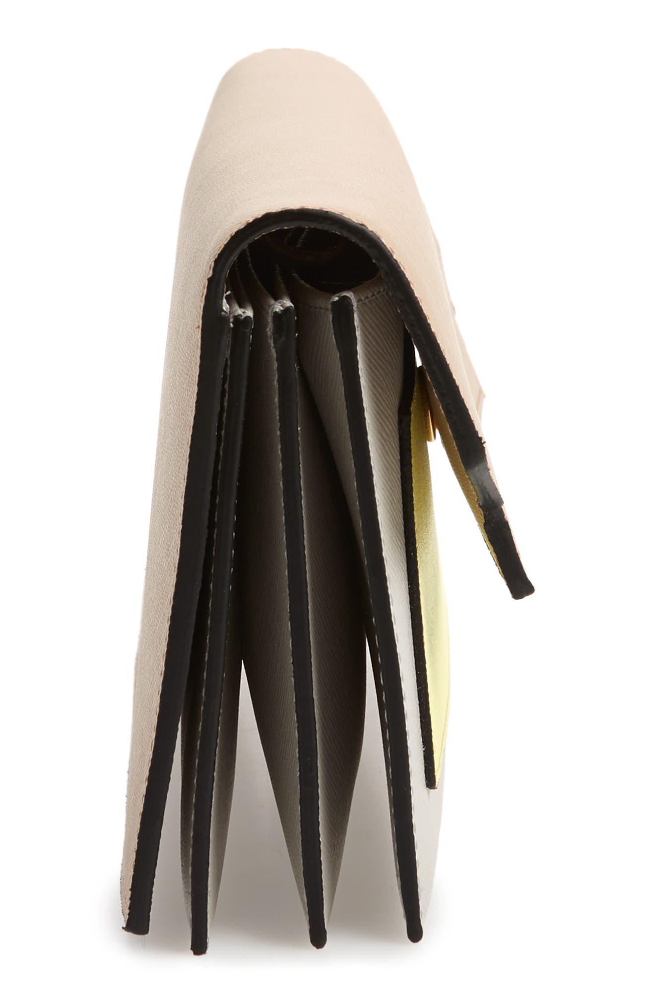 Trunk Leather Crossbody Wallet,                             Alternate thumbnail 6, color,                             LIGHT CAMEL/ VANILLA/ PELICAN