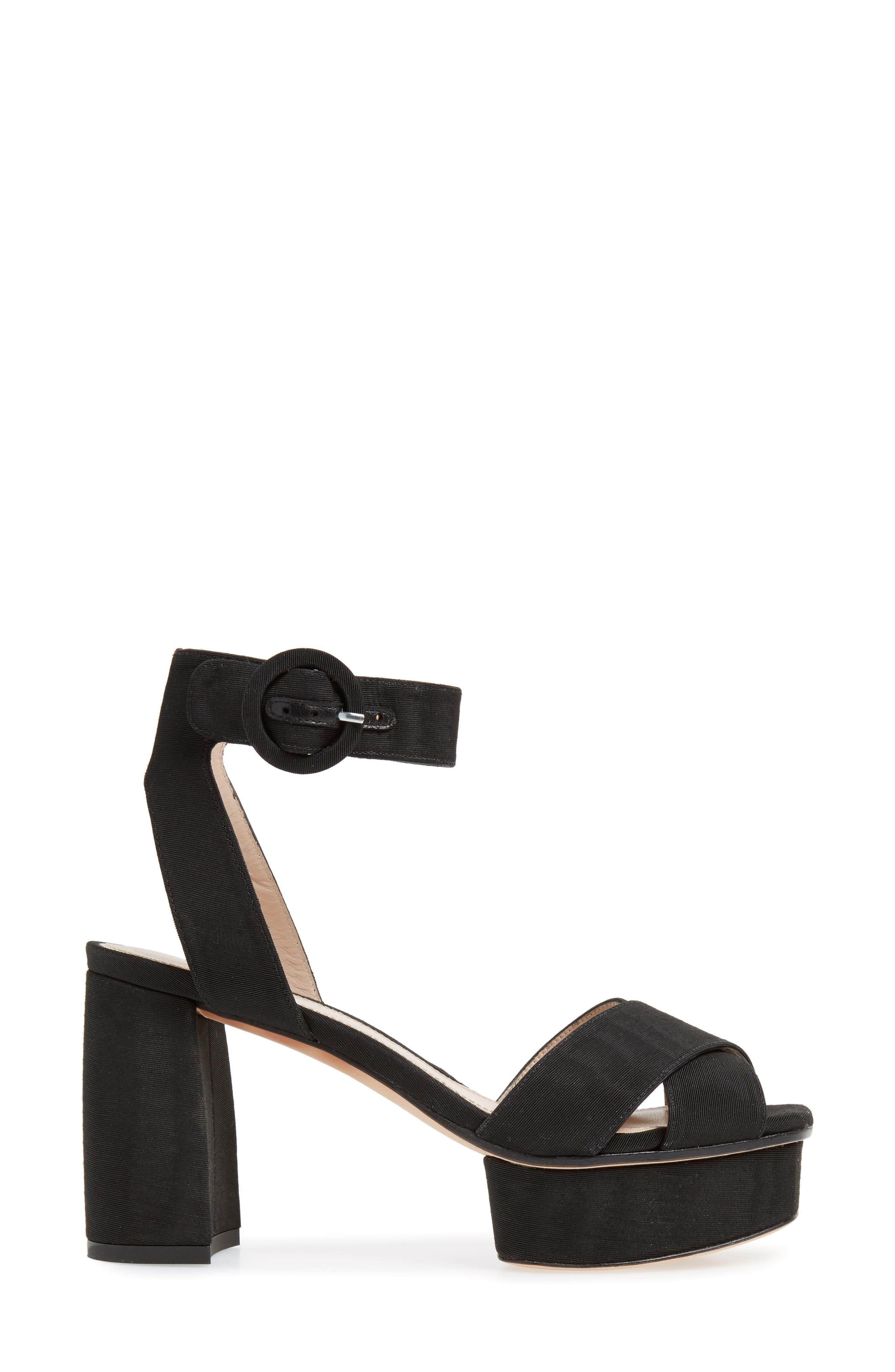 Carmina Ankle Strap Platform Sandal,                             Alternate thumbnail 3, color,                             001