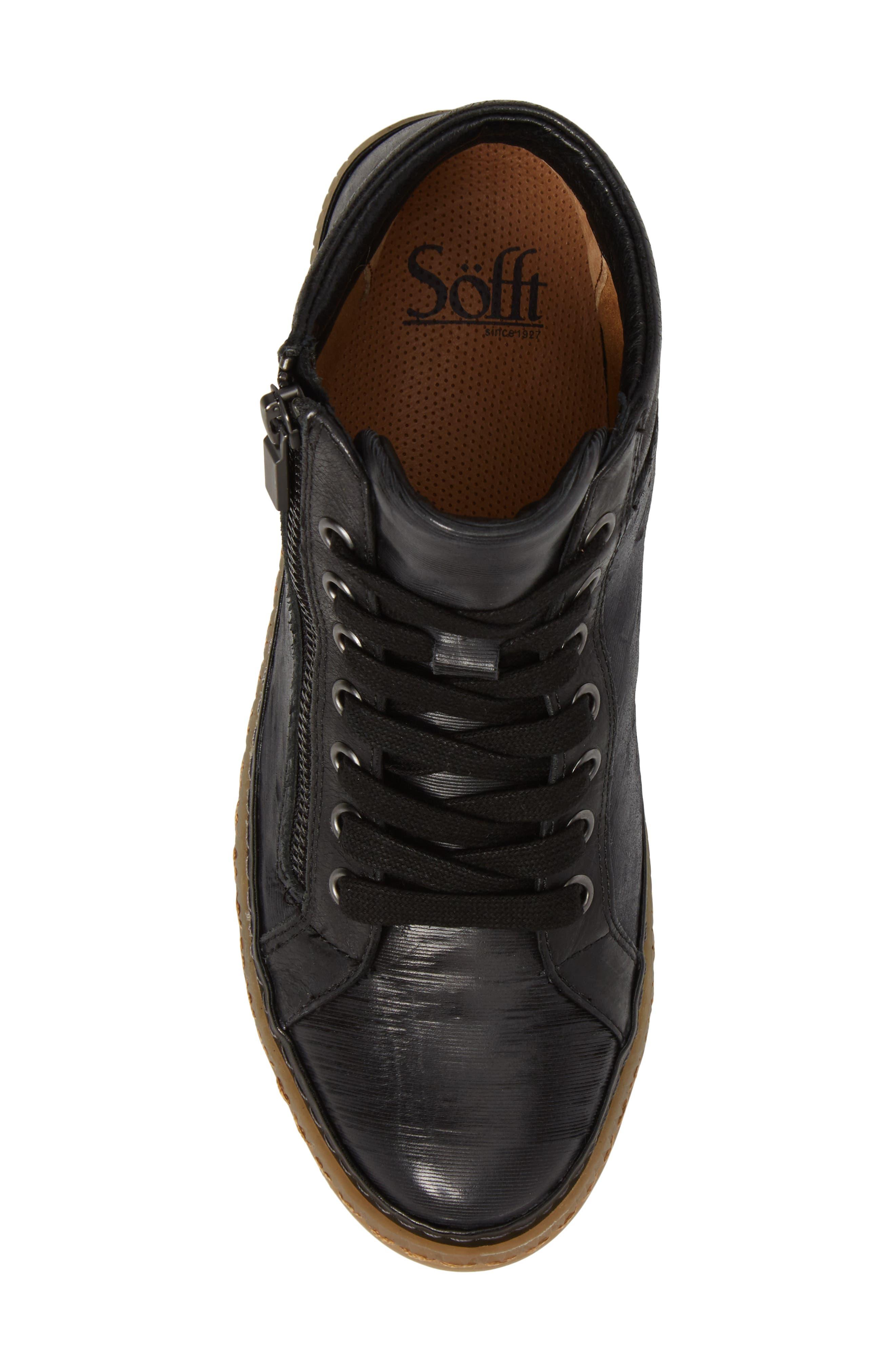 Annaleigh High Top Sneaker,                             Alternate thumbnail 5, color,                             001