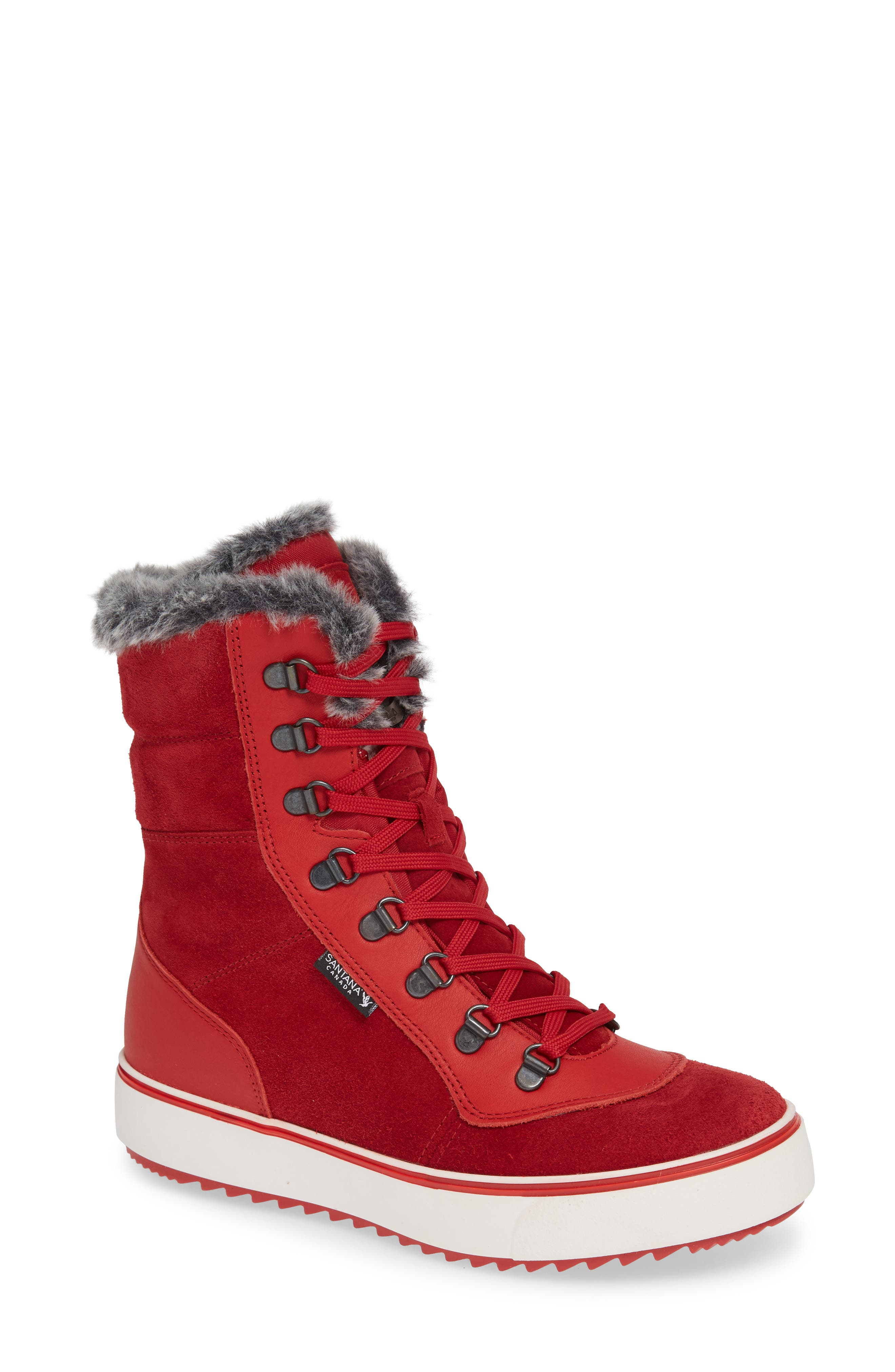 Santana Canada Mid Water Resistant Winter Boot, Red