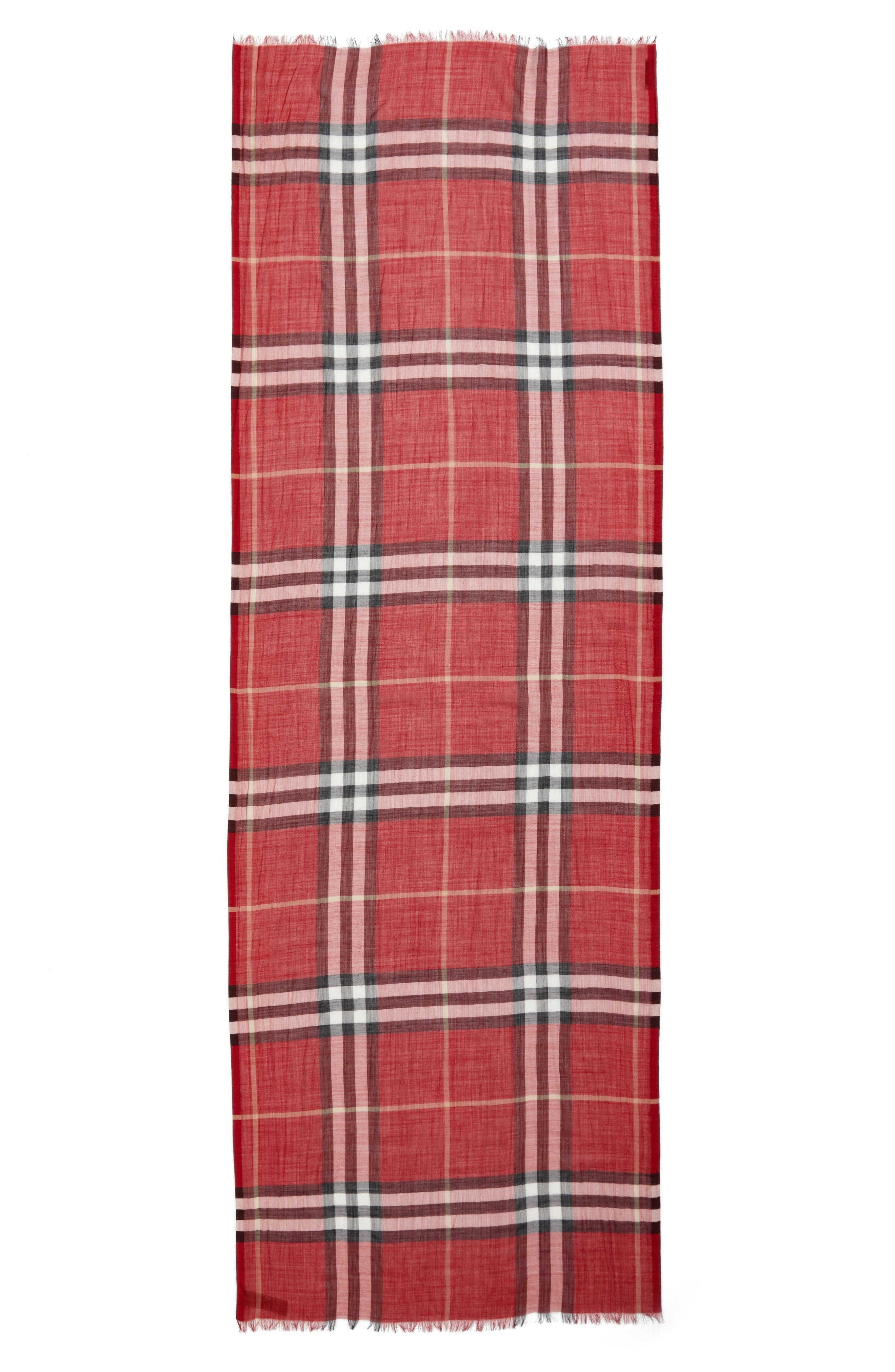 Giant Check Print Wool & Silk Scarf,                             Alternate thumbnail 73, color,