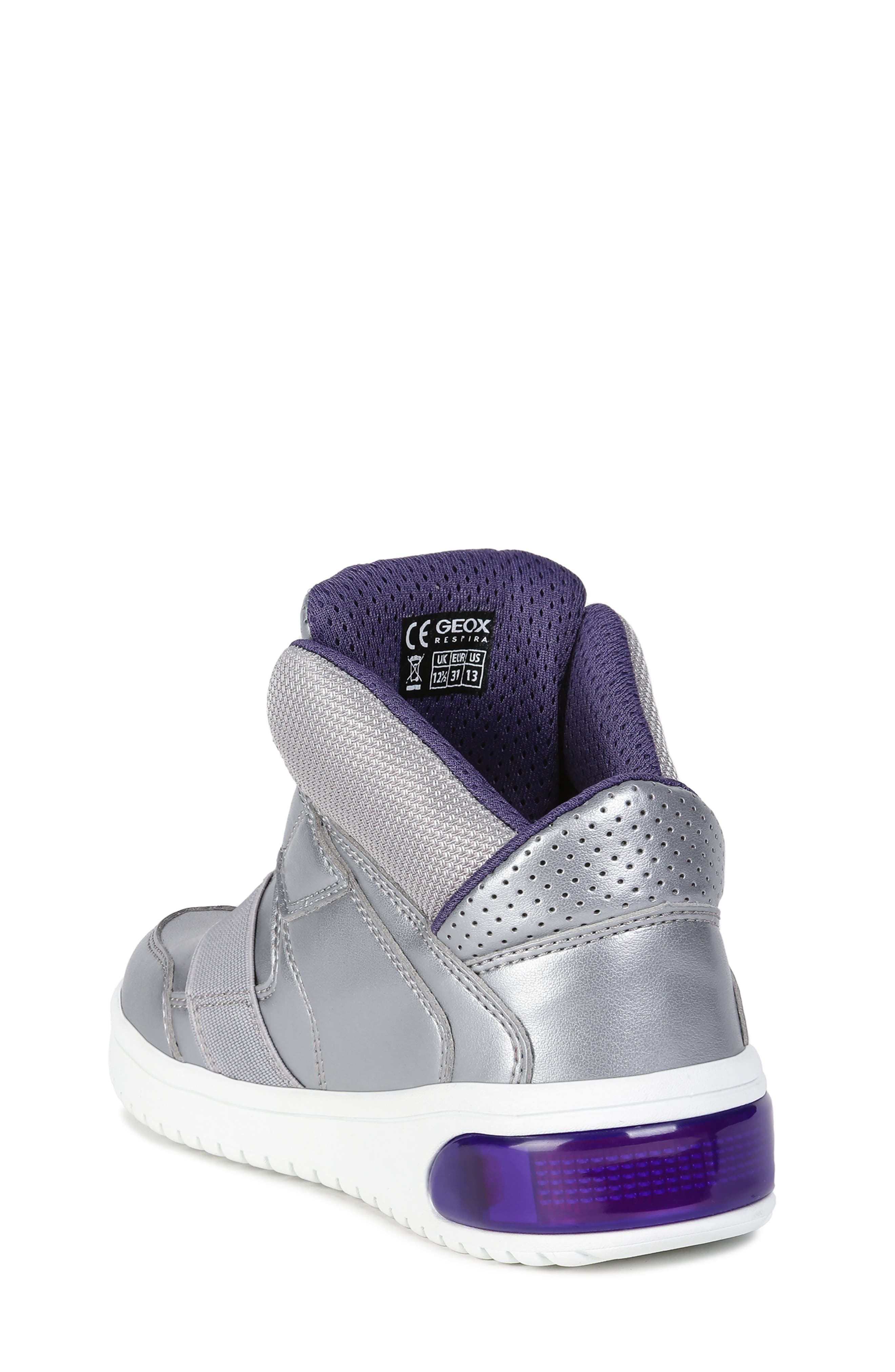 Xled Light Up Sneaker,                             Alternate thumbnail 2, color,                             SILVER/ VIOLET