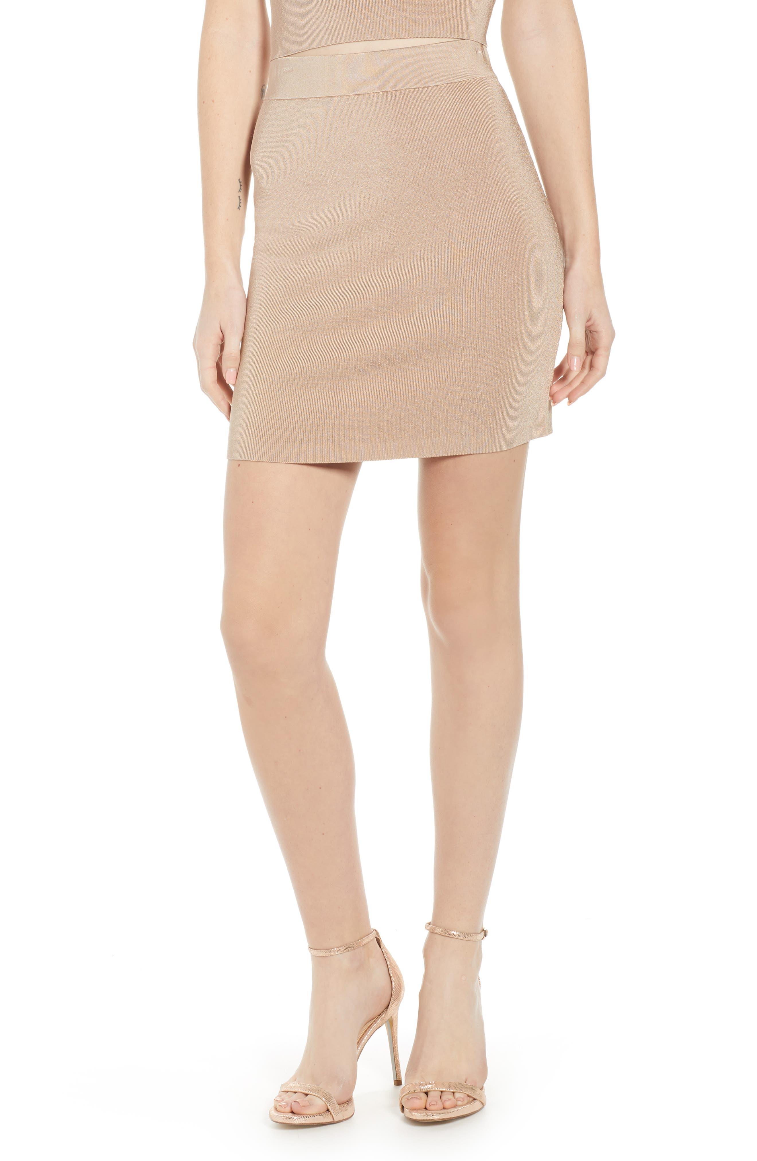 Leith Sweater Knit Miniskirt, Brown