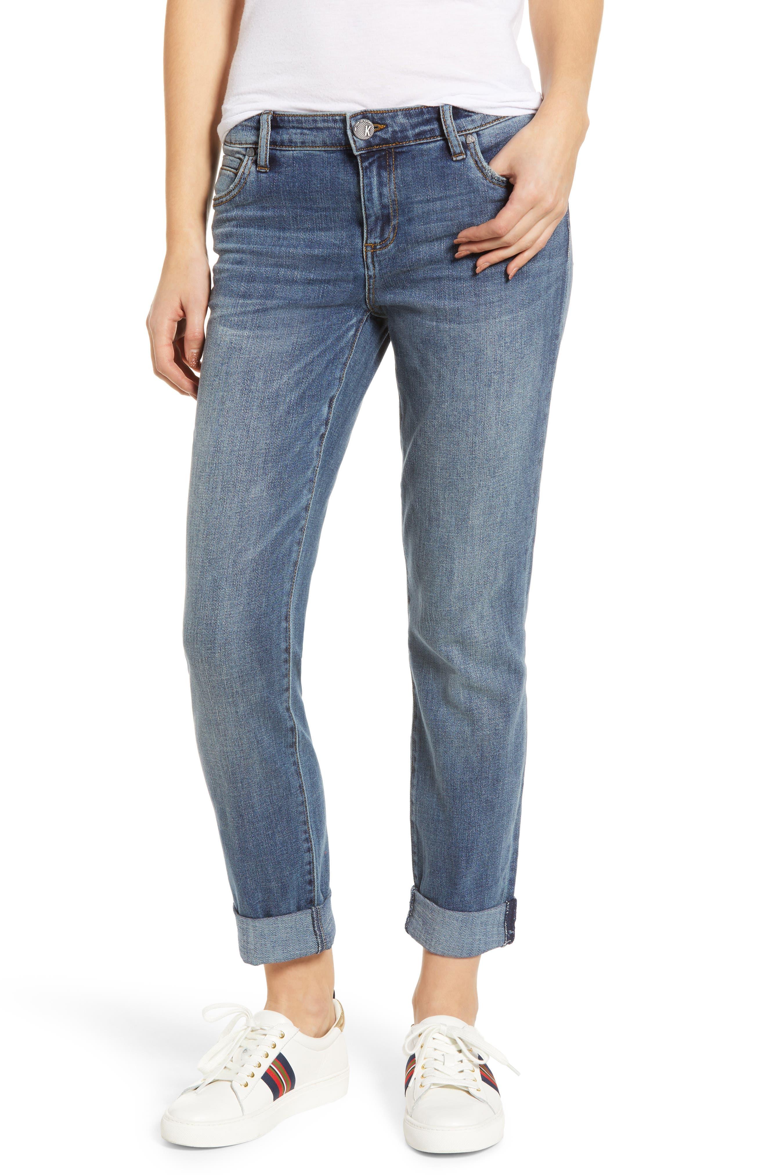 KUT FROM THE KLOTH Catherine Slim Boyfriend Jeans, Main, color, VERSION W/ MEDIUM BASE WASH
