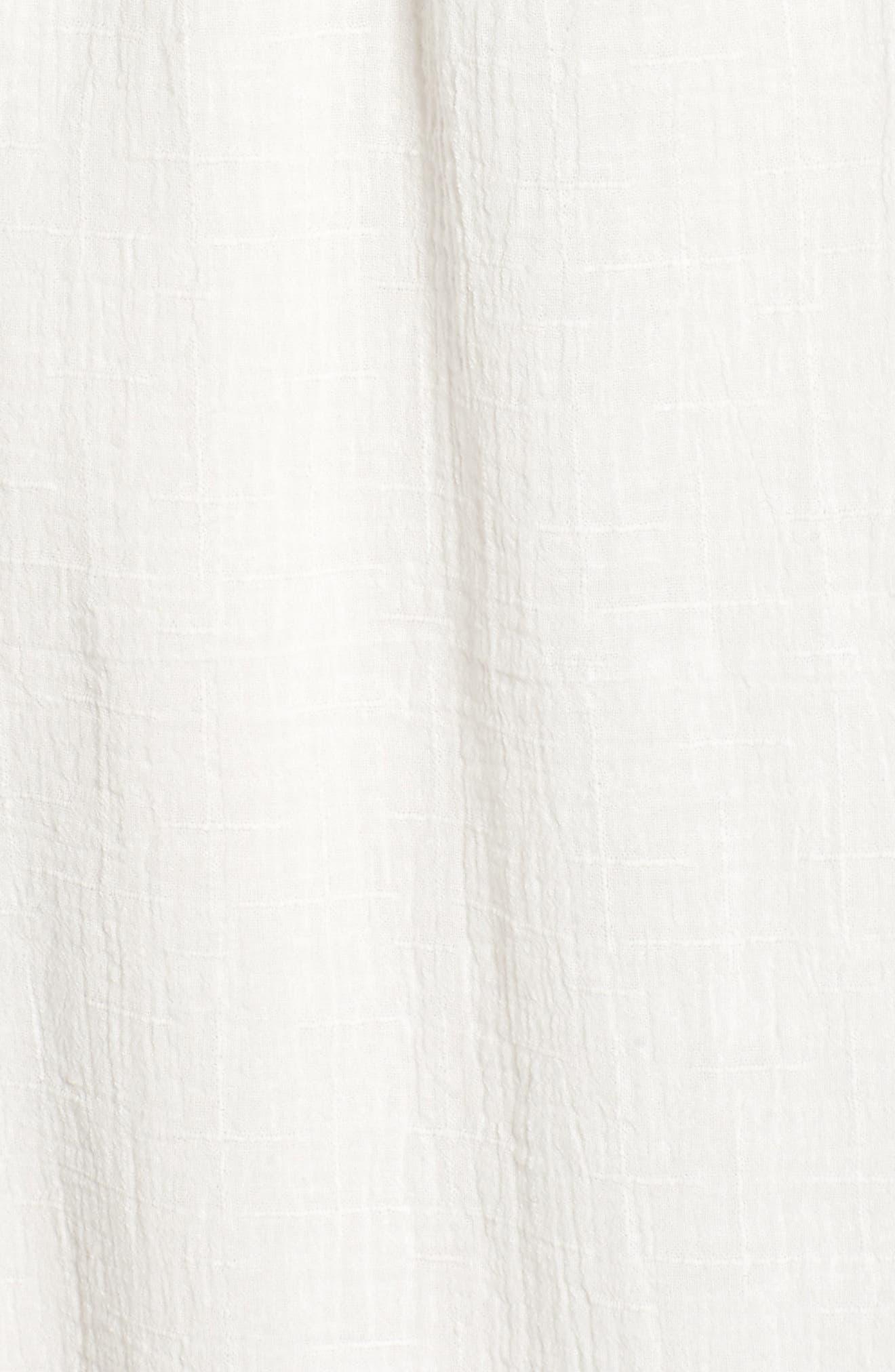 Lace Inset Empire Waist Maxi Dress,                             Alternate thumbnail 5, color,                             100