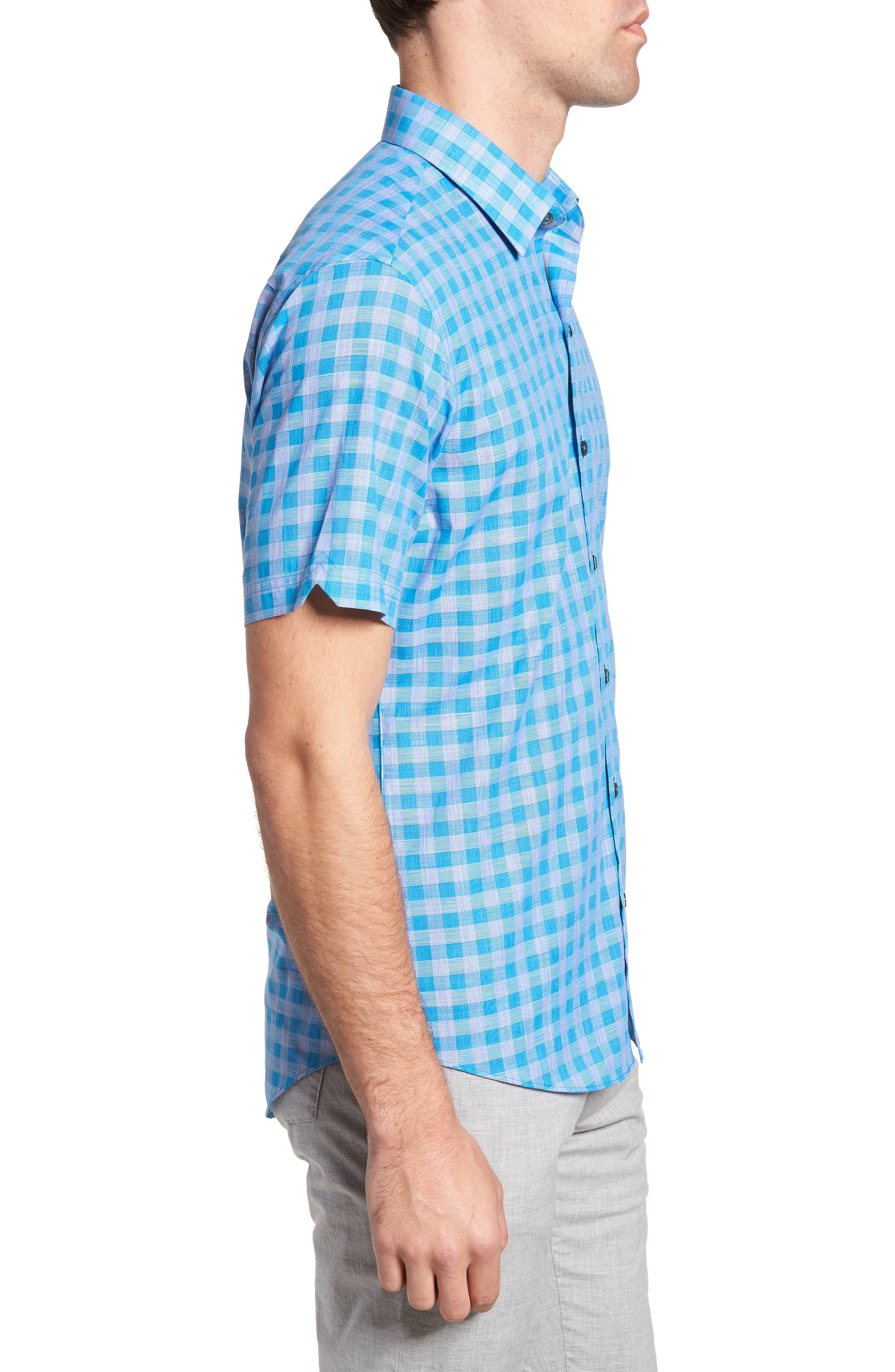 Ruder Regular Fit Check Sport Shirt,                             Alternate thumbnail 3, color,                             430