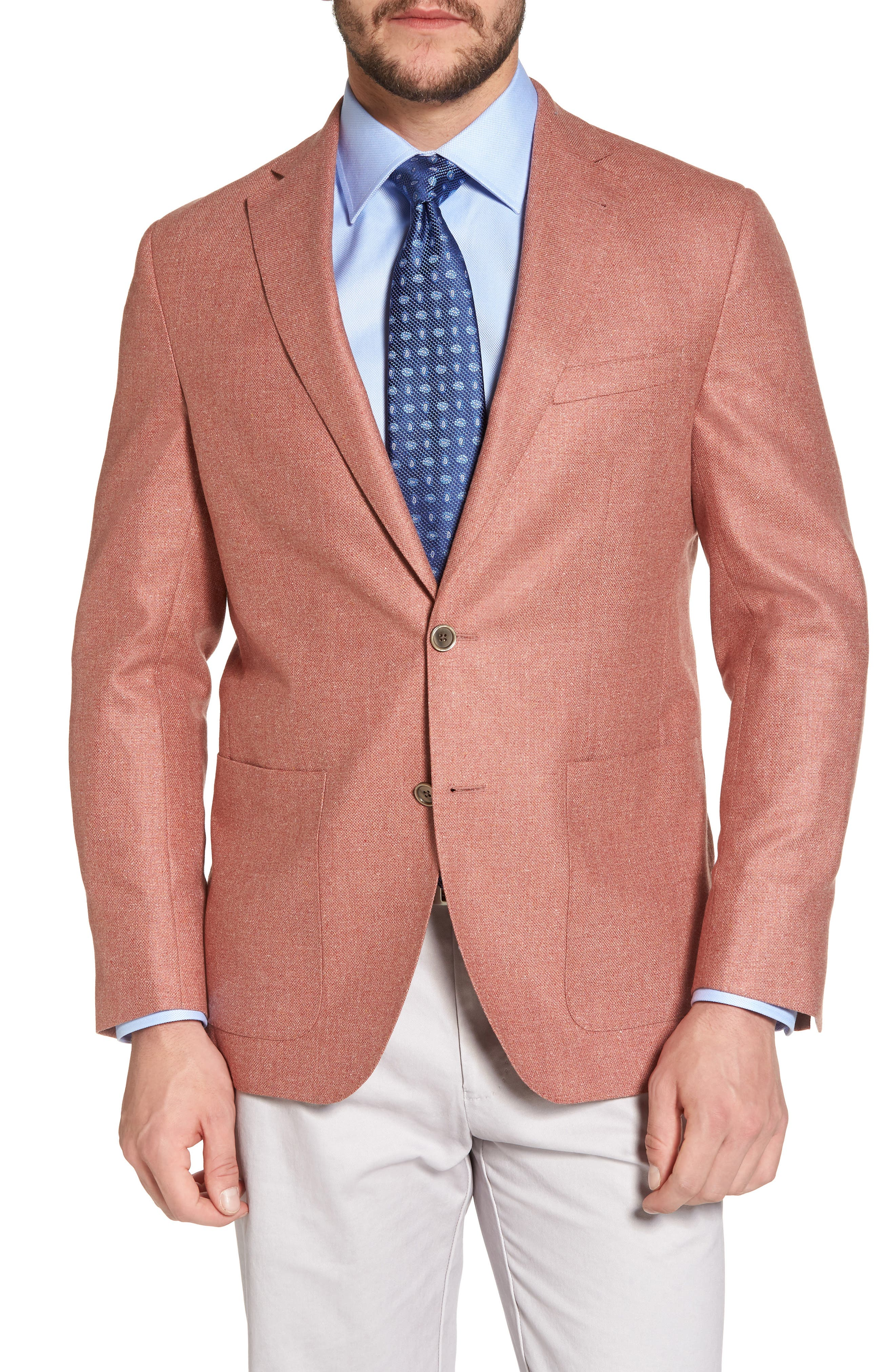 Aiden Classic Fit Silk & Wool Blazer,                             Main thumbnail 1, color,                             950
