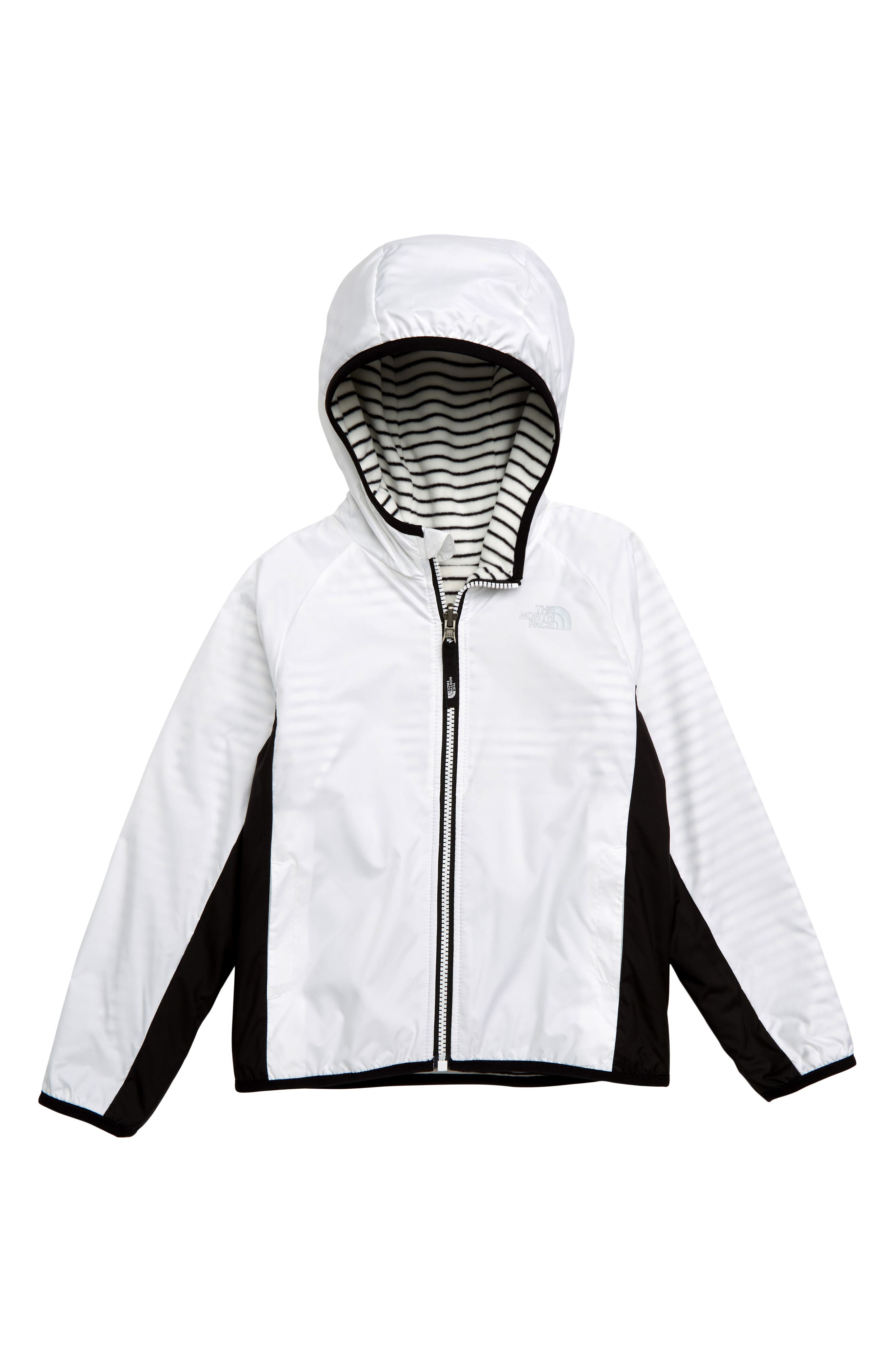 THE NORTH FACE,                             Breezeway Reversible Water Repellent Windproof Jacket,                             Main thumbnail 1, color,                             TNF WHITE