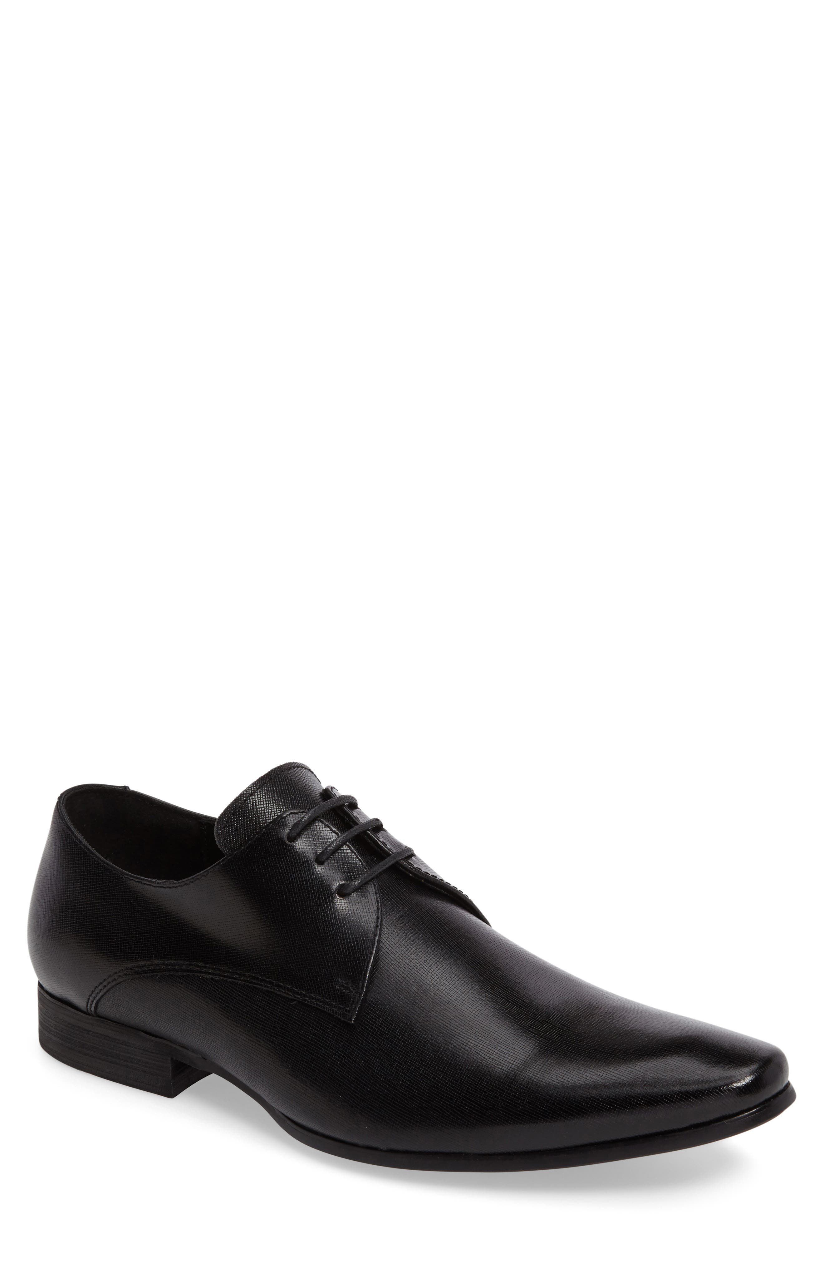 Needle Plain Toe Derby,                         Main,                         color, BLACK